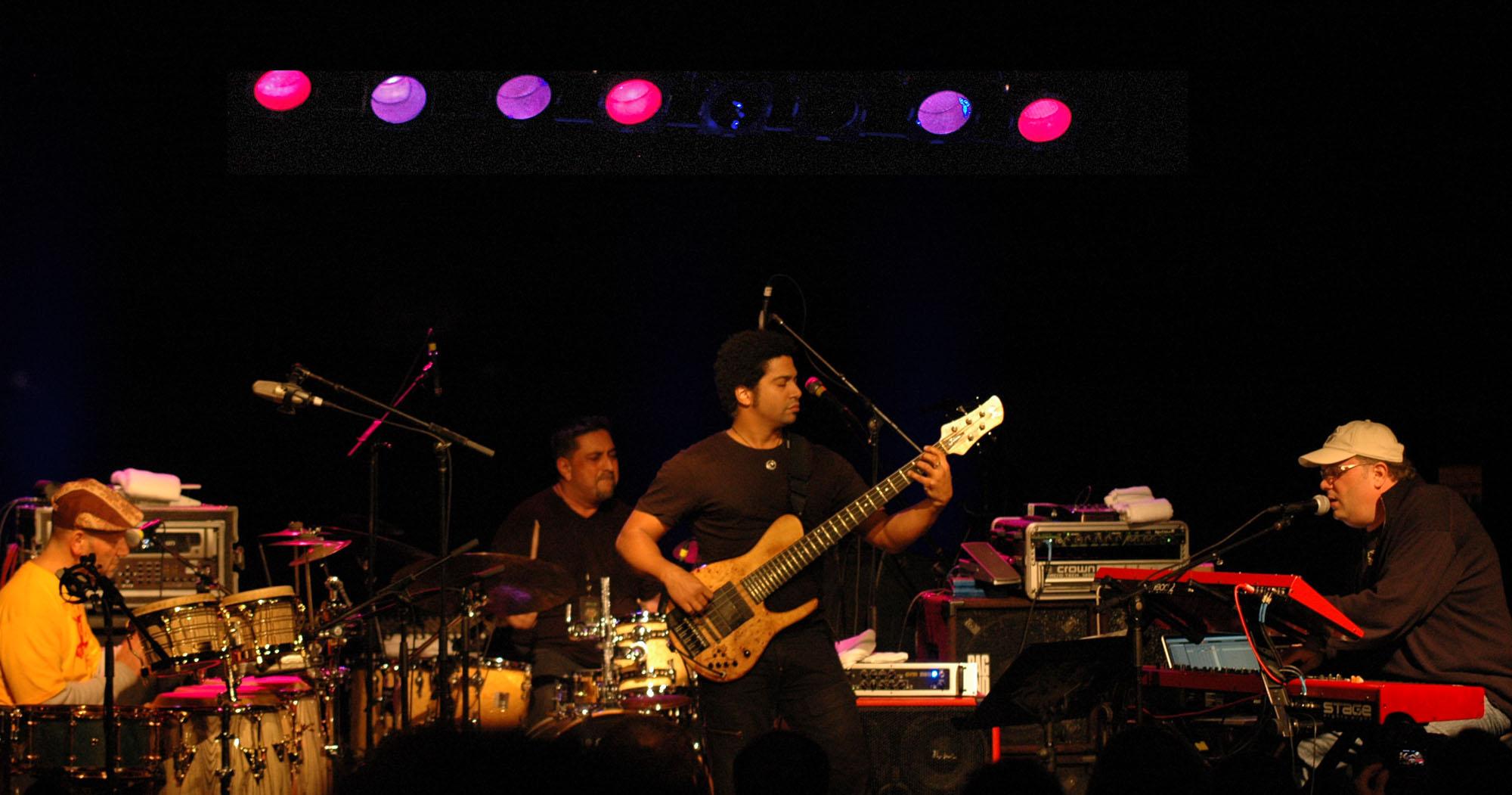 Arto Tuncboyaciyan, Ranit Barot, Matthew Garrison and Scott Kinsey, Performing with Human Element at the New Universe Music Festival 2010