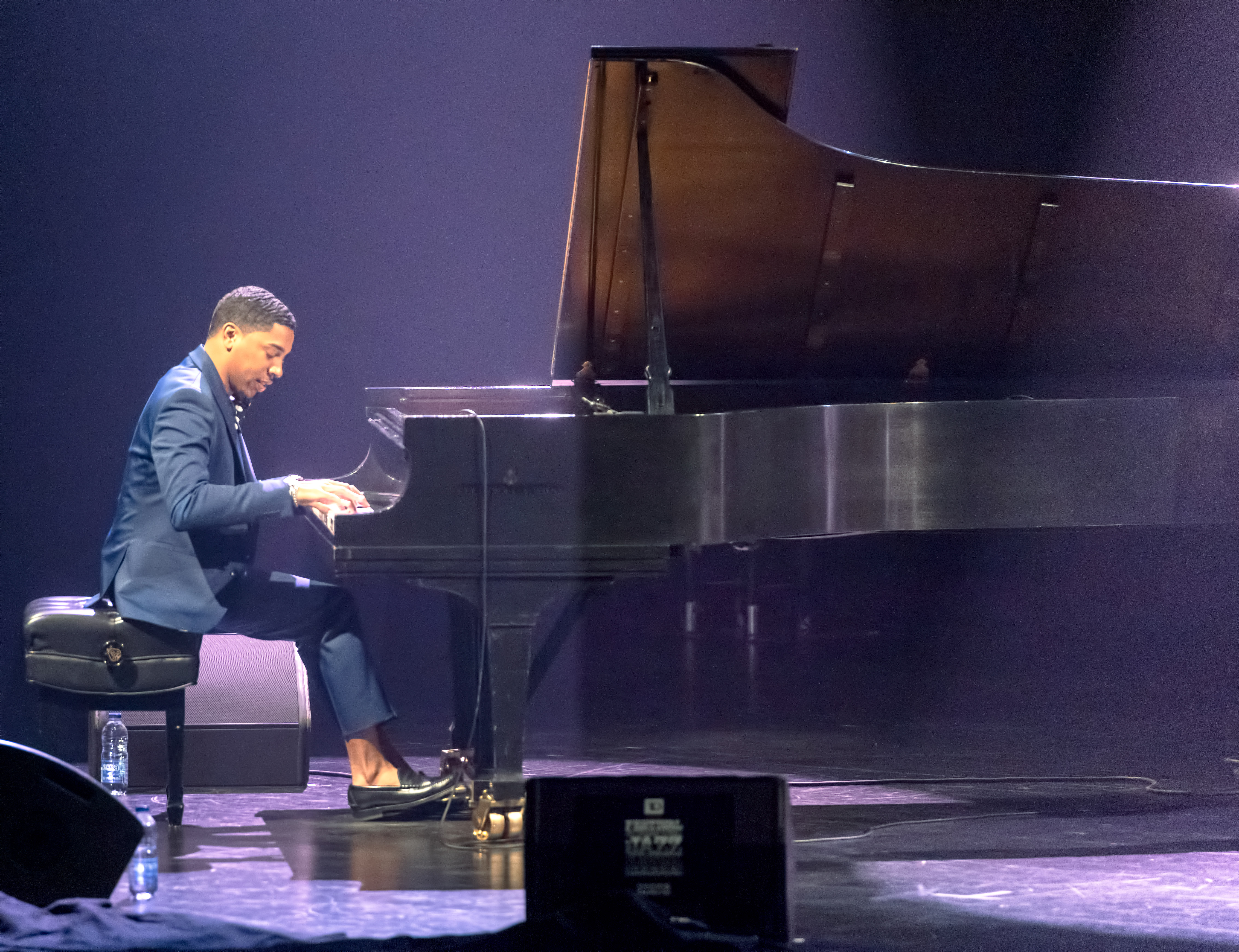 Christian Sands with trio at The Montreal International Jazz Festival 2018