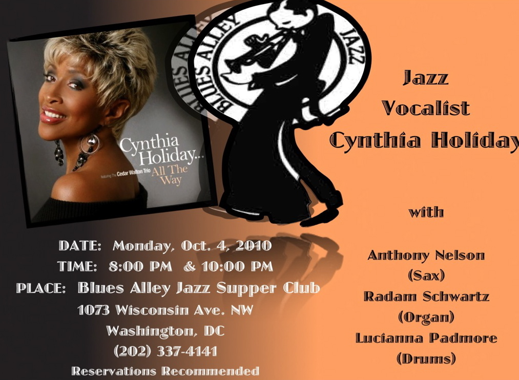Cynthia Holiday at Blues Alley 2011