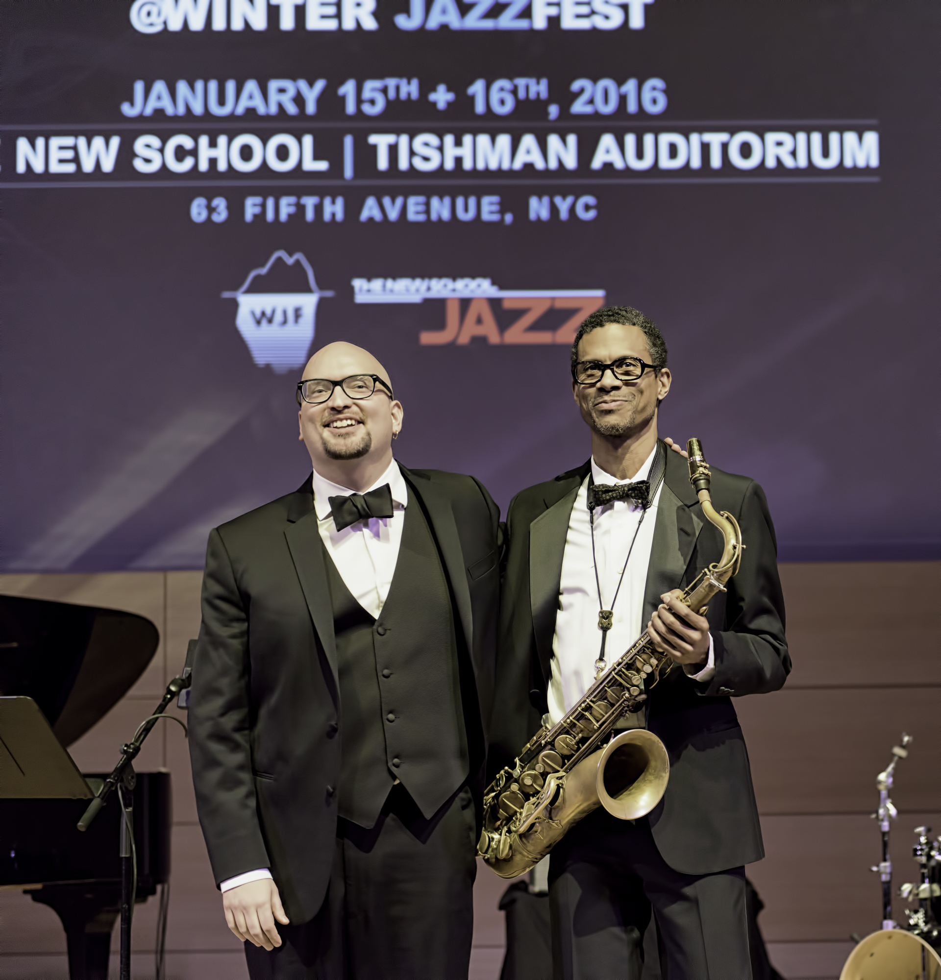Ethan Iverson and Mark Turner At The NYC Winter Jazzfest 2016