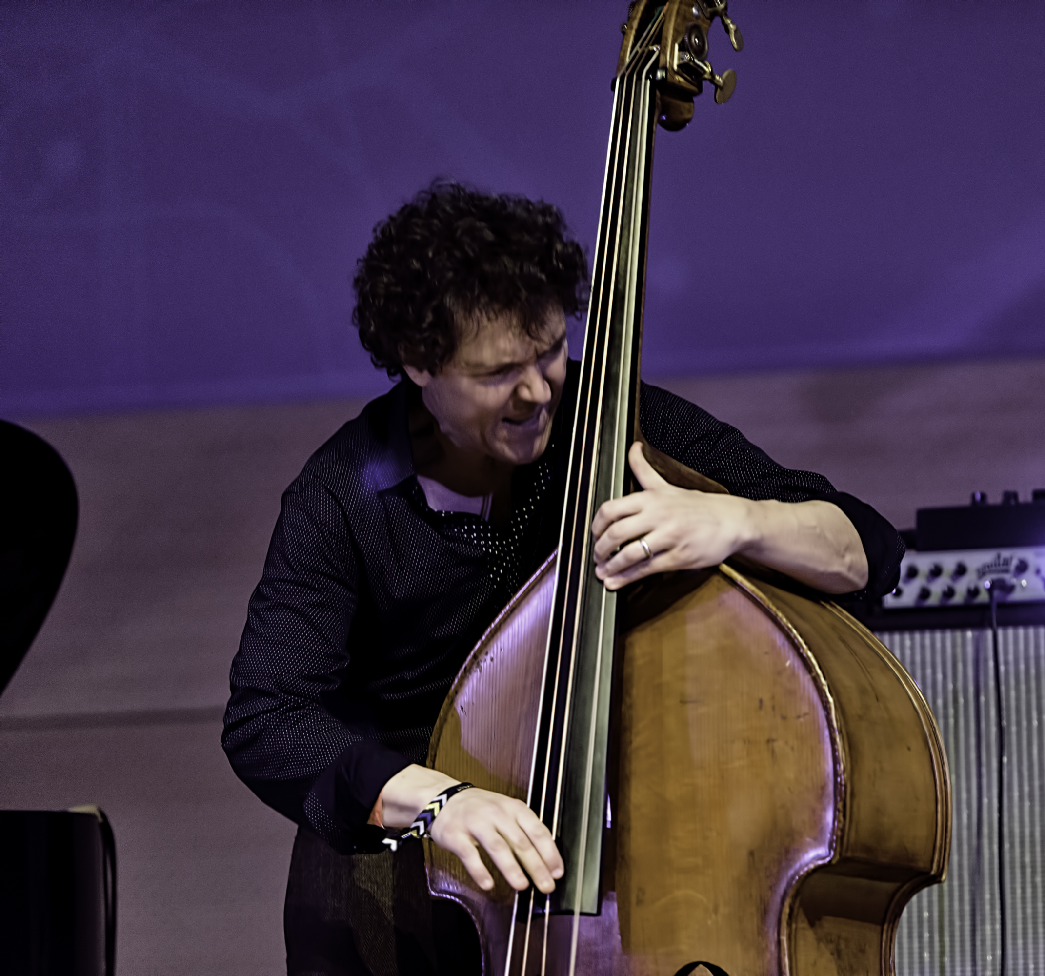 Stephan Crump with the Vijay Iyer Trio At The NYC Winter Jazzfest 2016