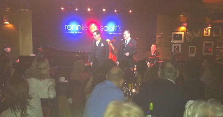 On stage at Ronnie Scott's Jazz Club, London