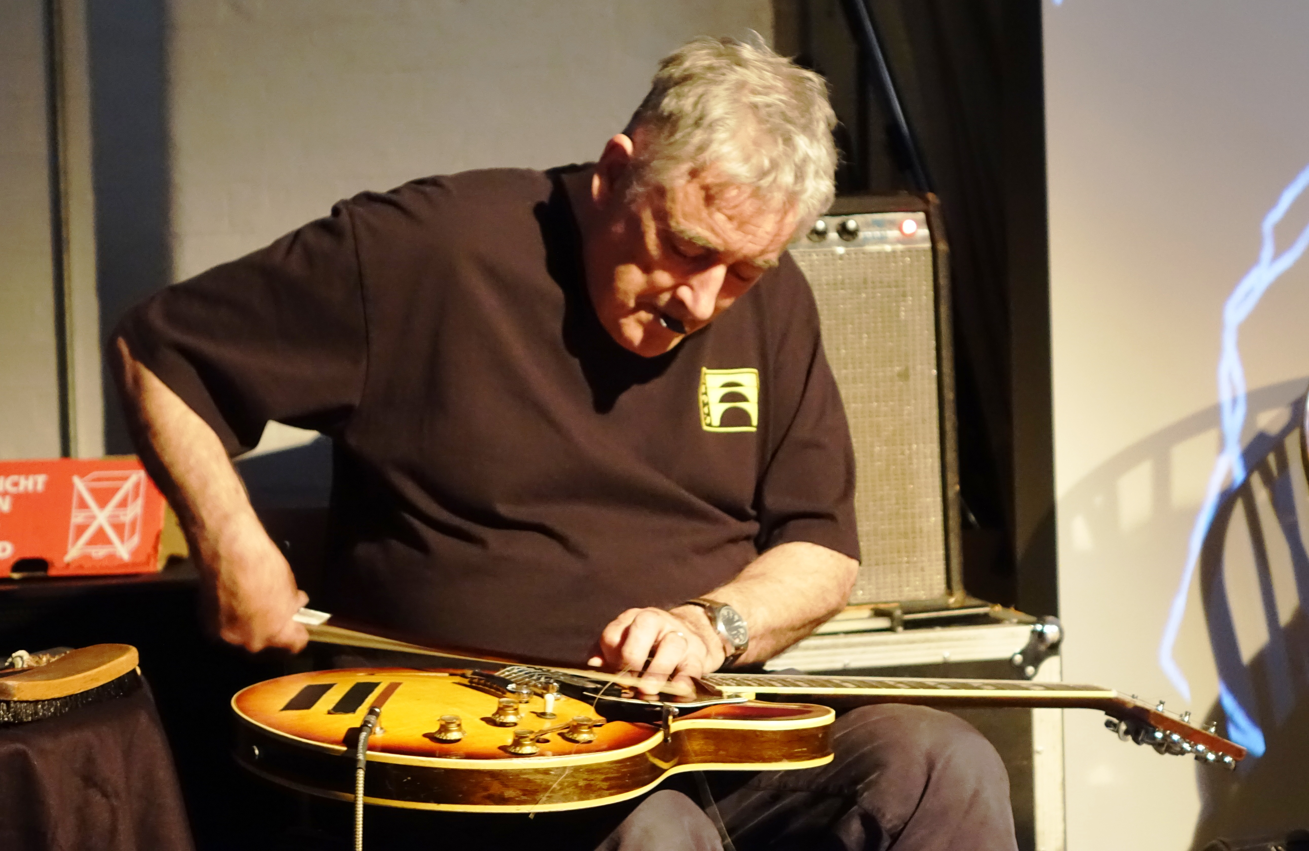 Fred Frith at Cafe Oto, London in June 2019
