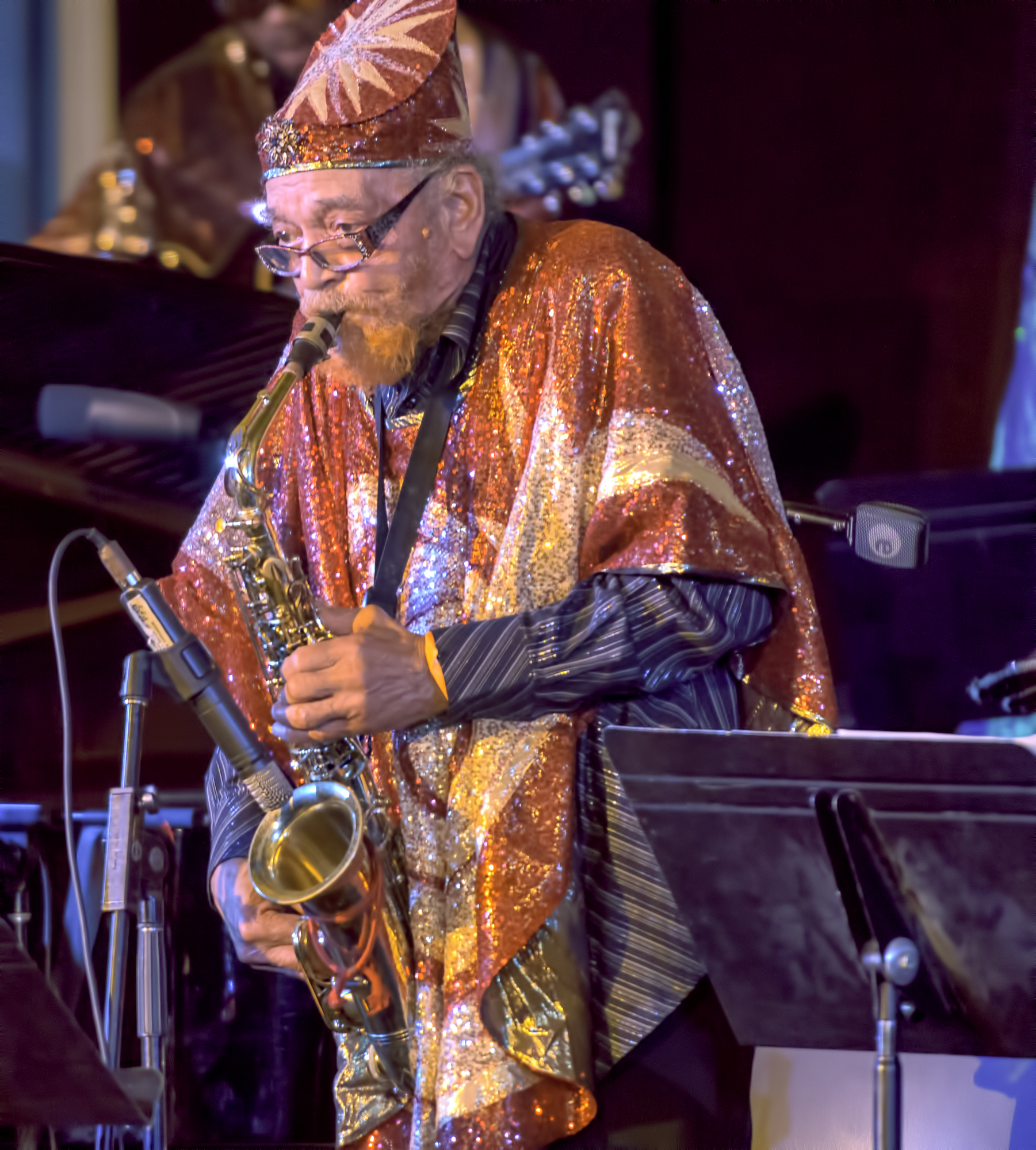 Marshall Allen With The Sun Ra Arkestra At The 20th Anniversary Vision Festival 2015