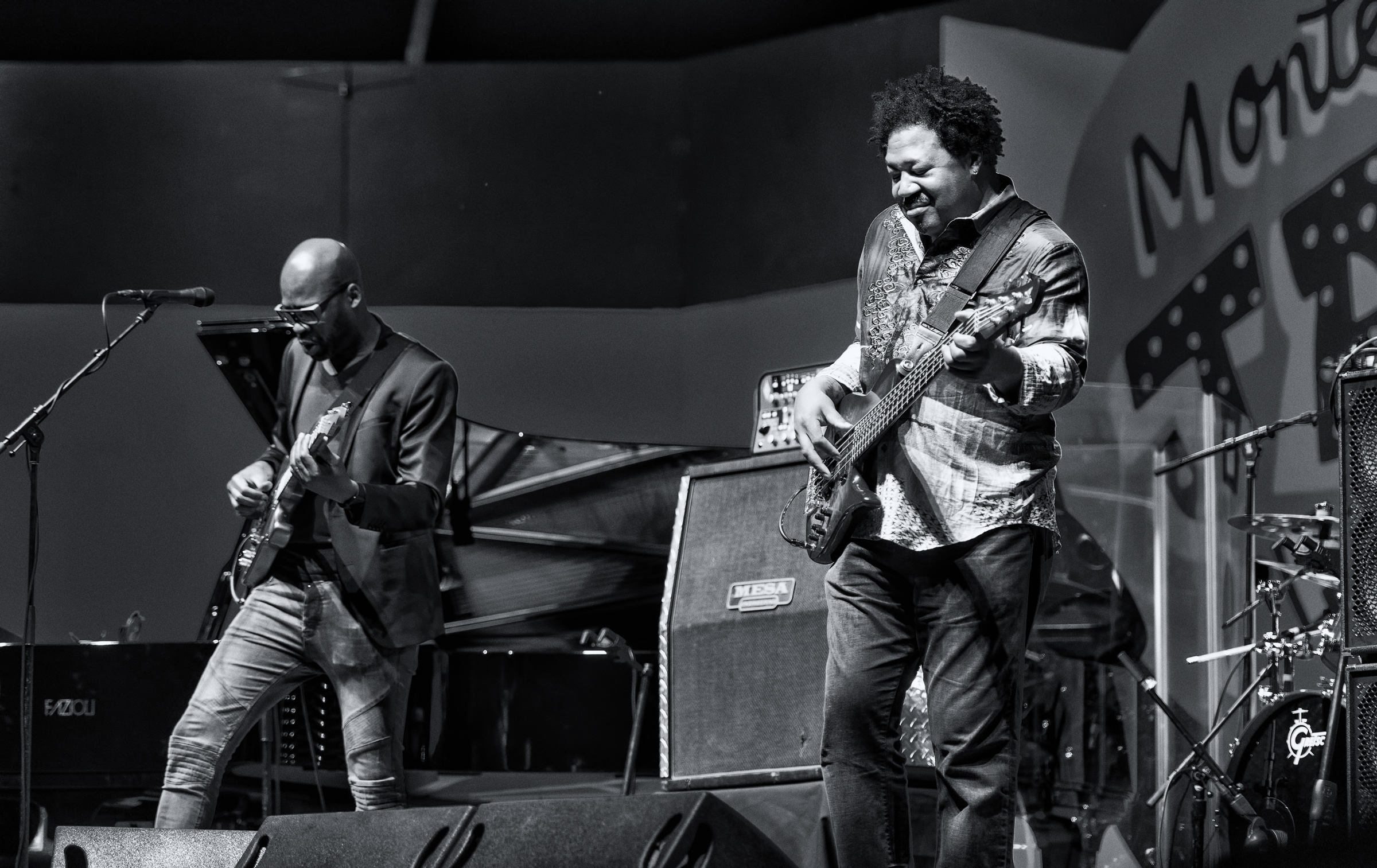 Lionel Loueke and James Genus with Herbie Hancock at the Monterey Jazz Festival
