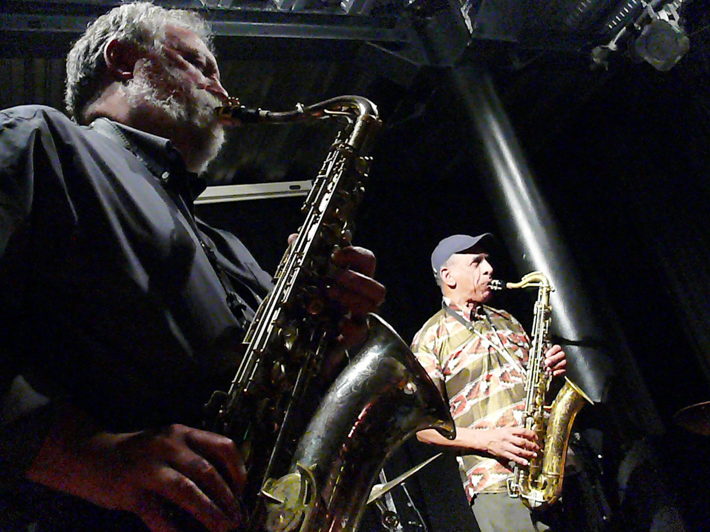 Evan Parker and John Tchicai at the Vortex, London in October 2011