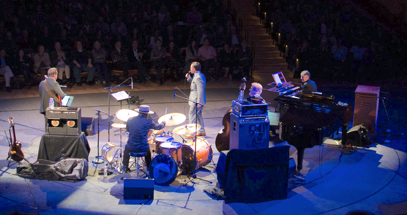 Kurt Elling with his band live at Stanford Jazz