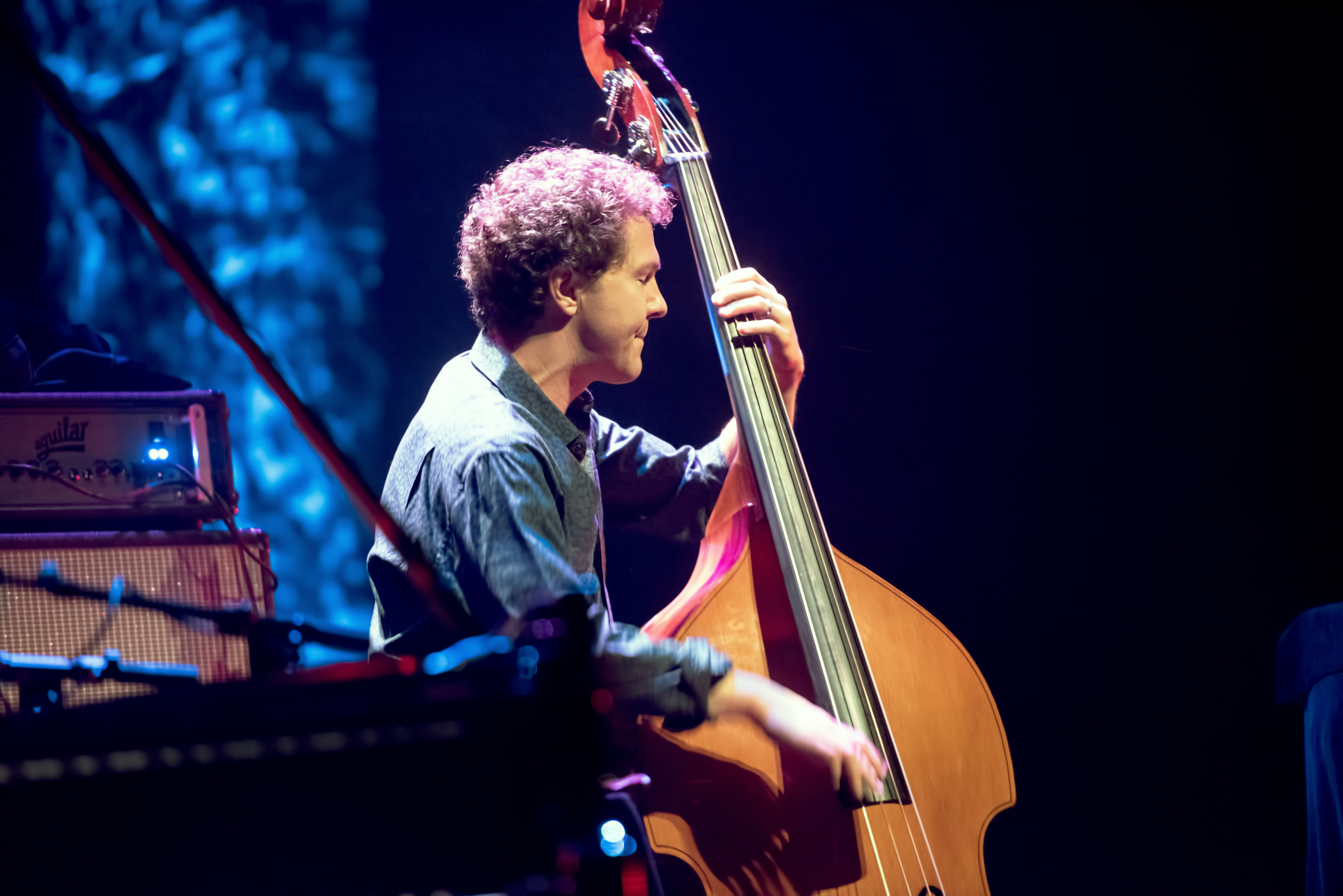 Stephan Crump with the Vijay Iyer Trio At The Montreal International Jazz Festival 2015