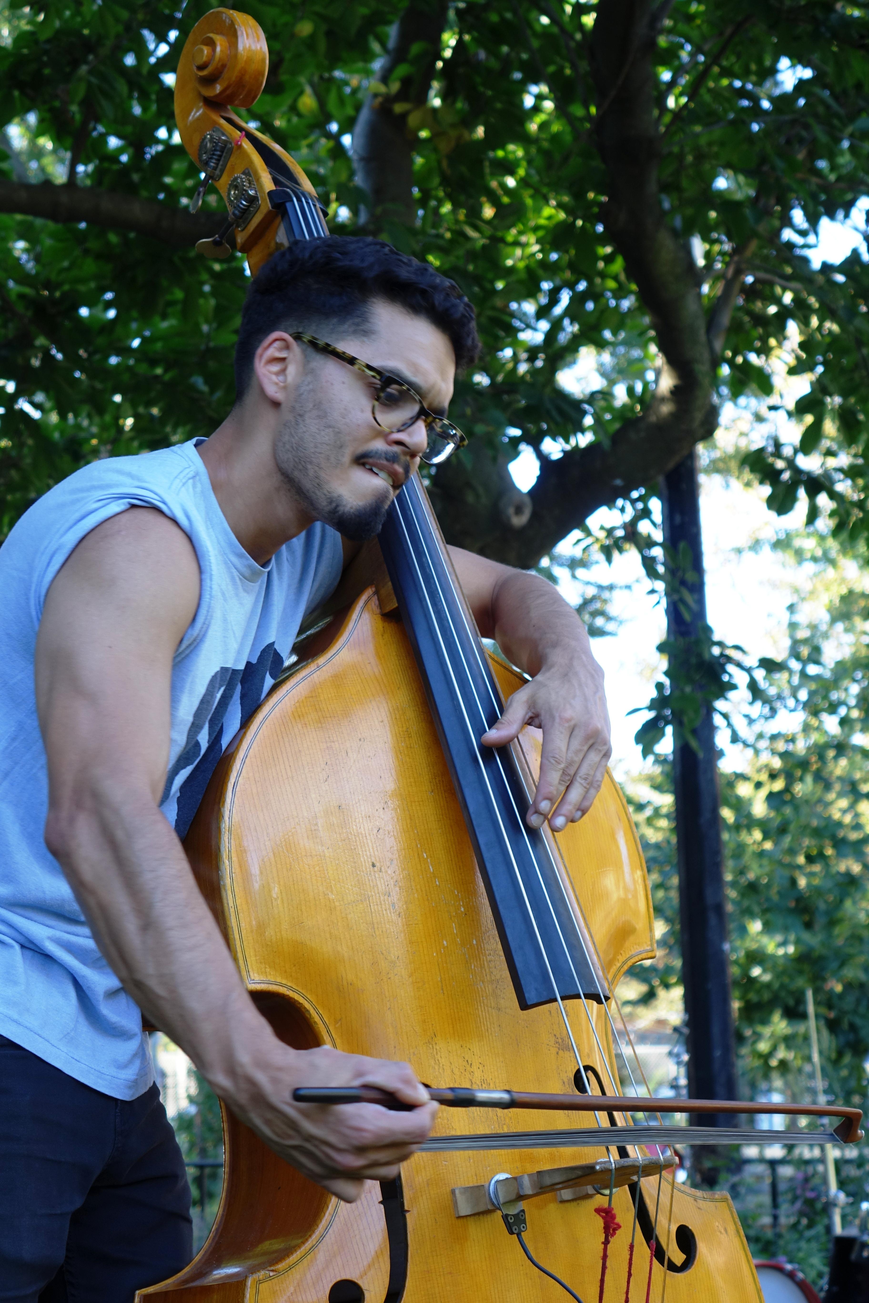 Brandon Lopez in Corlears Hook Park in September 2017
