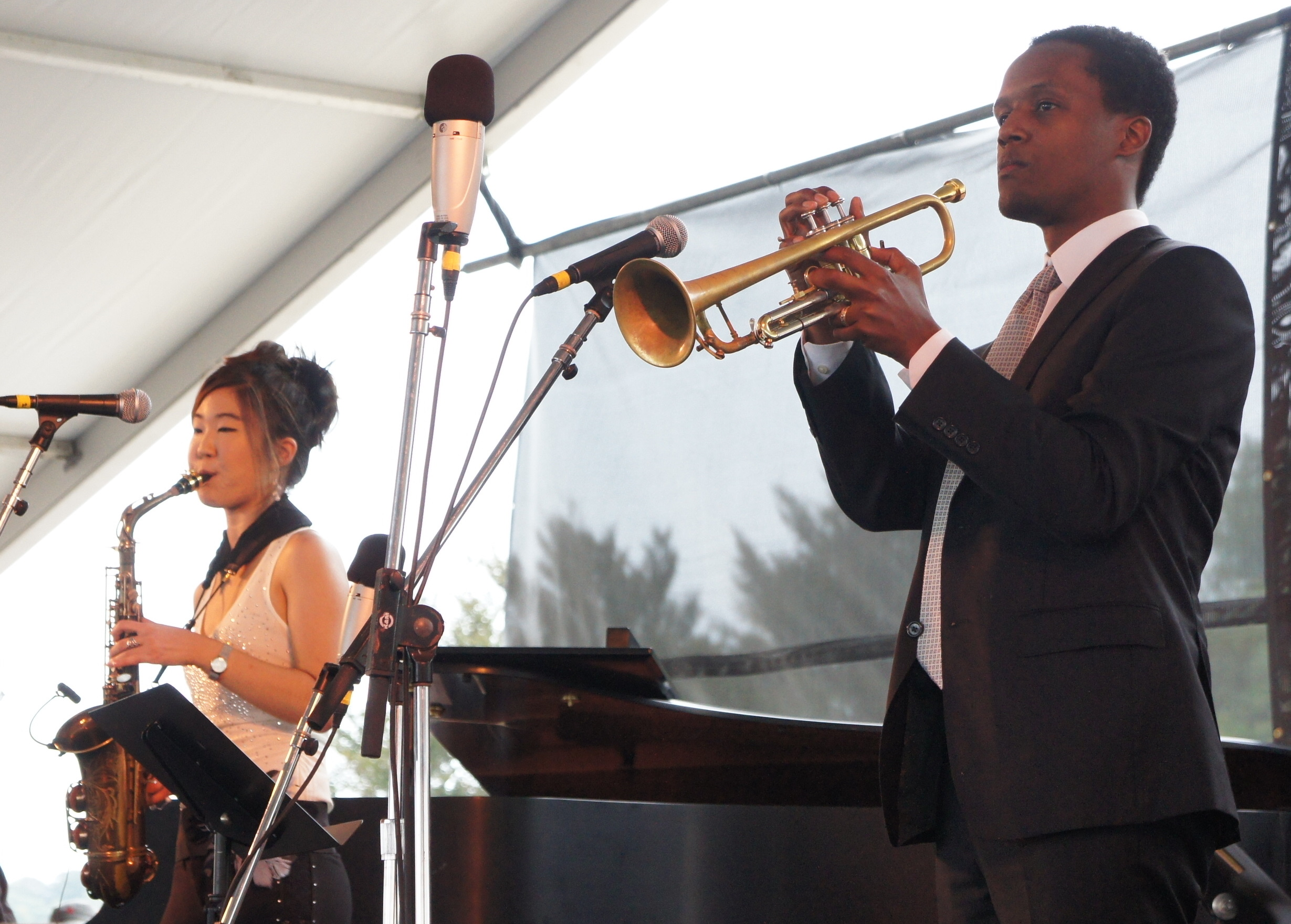 Grace Kelly, Alto Sax and Jason Palmer, Trumpet, Newport 2011