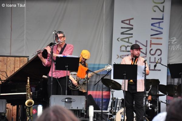 Iordache at Garana Jazz Fest 2012 with Dan Alex Mitrofan and Sebastian Burneci