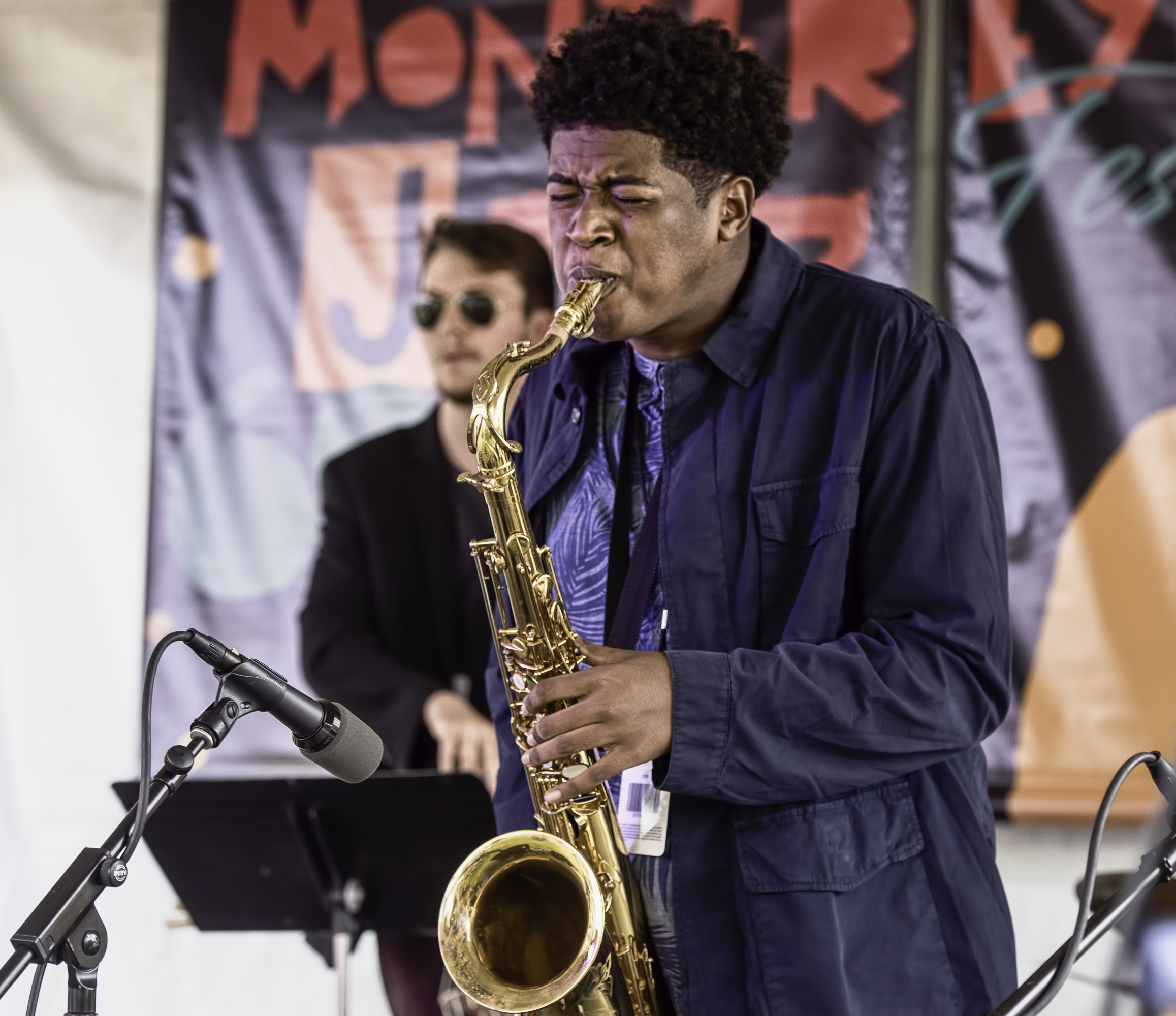 Abdias Armenteros with the Next Generation Jazz Orchestra at the Monterey Jazz Festival