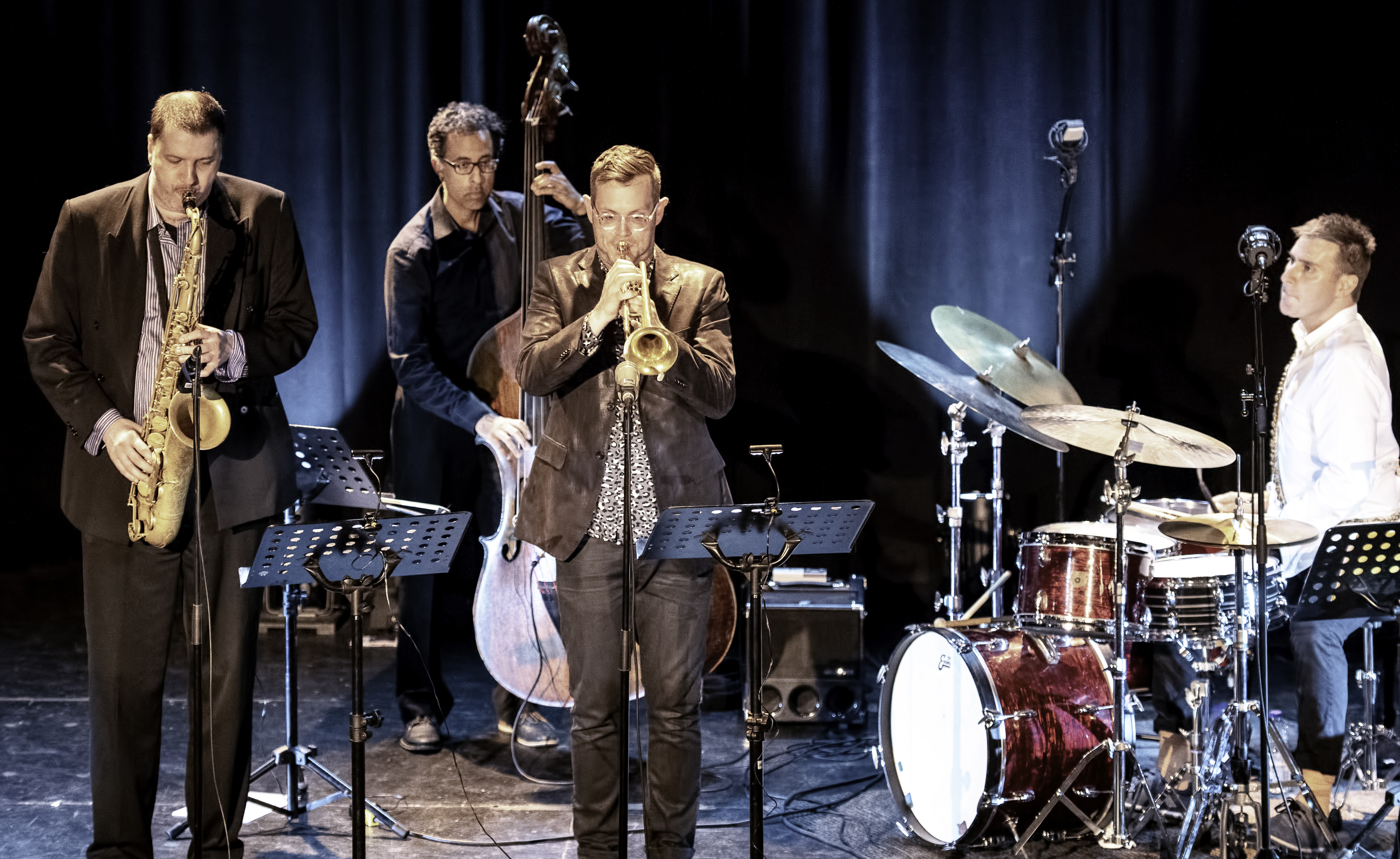 Al McLean, Adrian Vedady, Lex French and Jim Doxas At The Montreal International Jazz Festival 2019