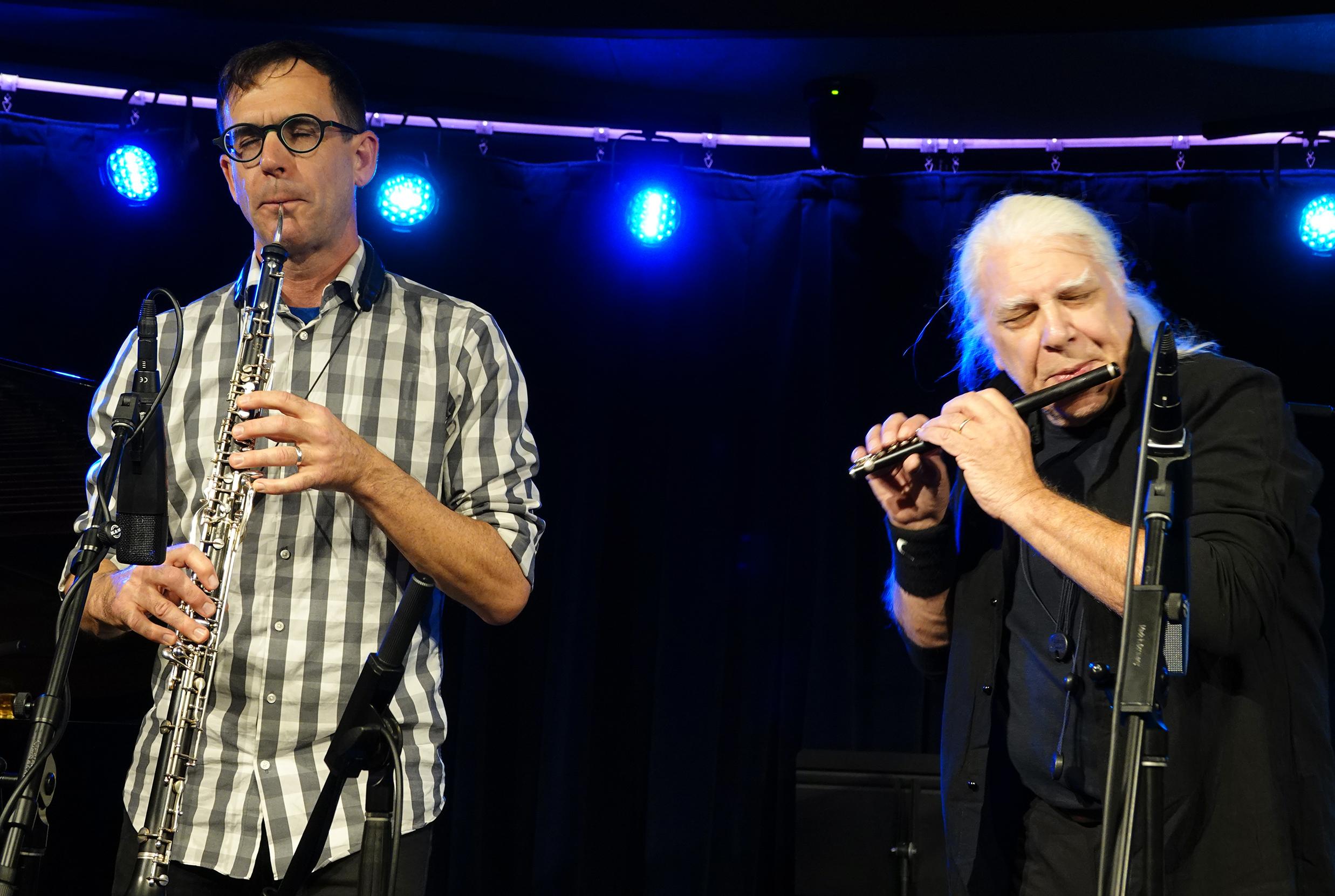 Kyle Bruckmann & Vinny Golia at 23rd Annual Edgefest 2019