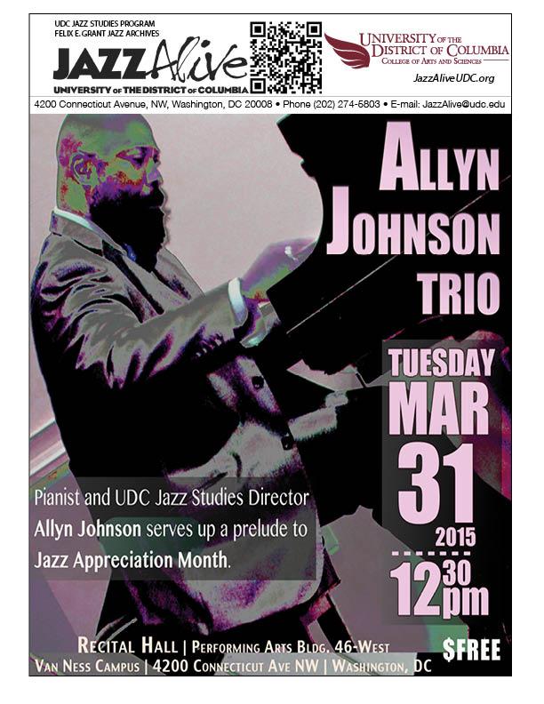 Allyn Johnson Trio - Tuesday, March 31, 2015, 12:30pm