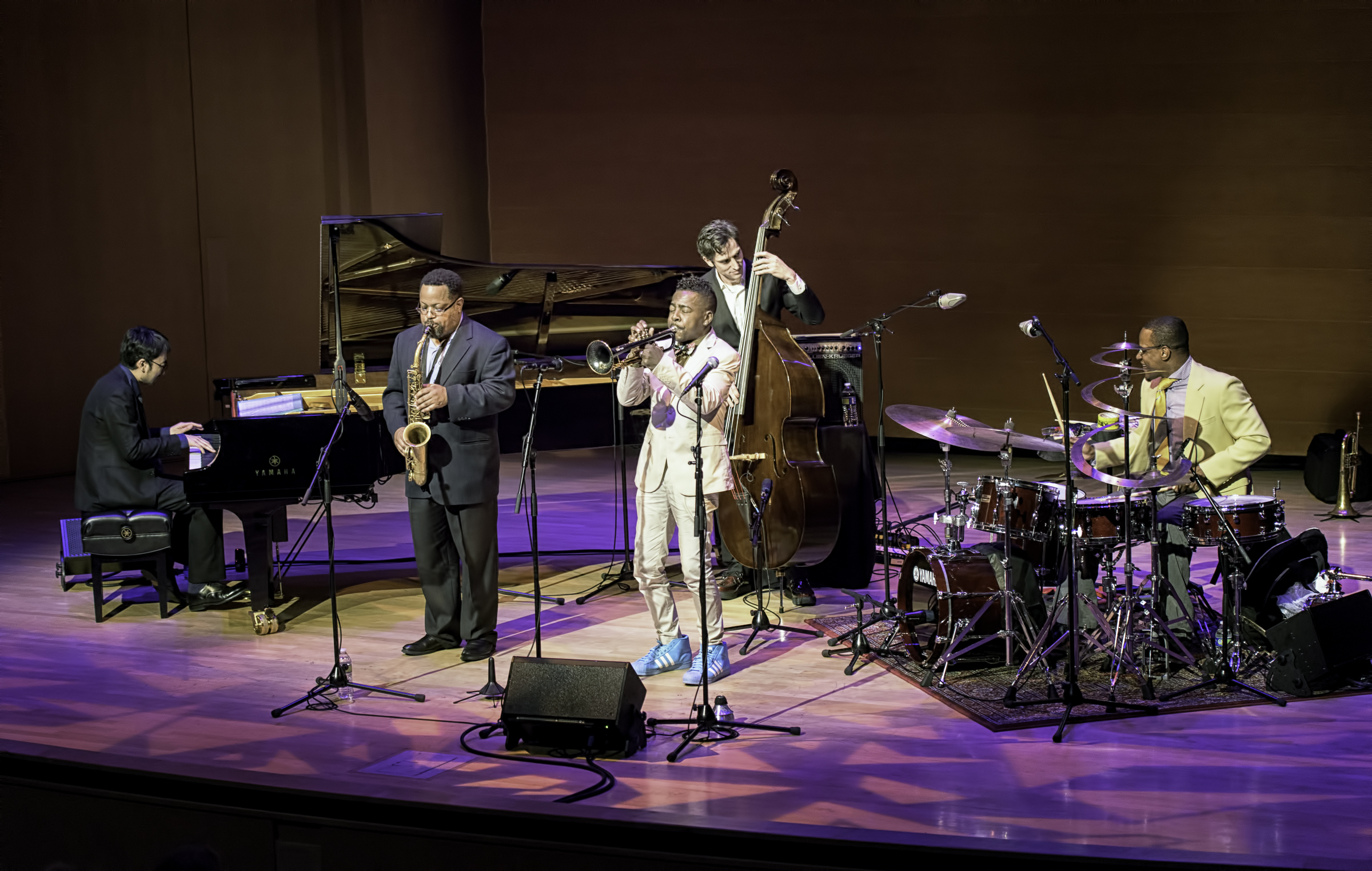 Tadataka Unno Justin Robinson, Roy Hargove, Danton Boller And Quincy Phillips With The Roy Hargrove Quintet At The Musical Instrument Museum (mim) In Phoenix