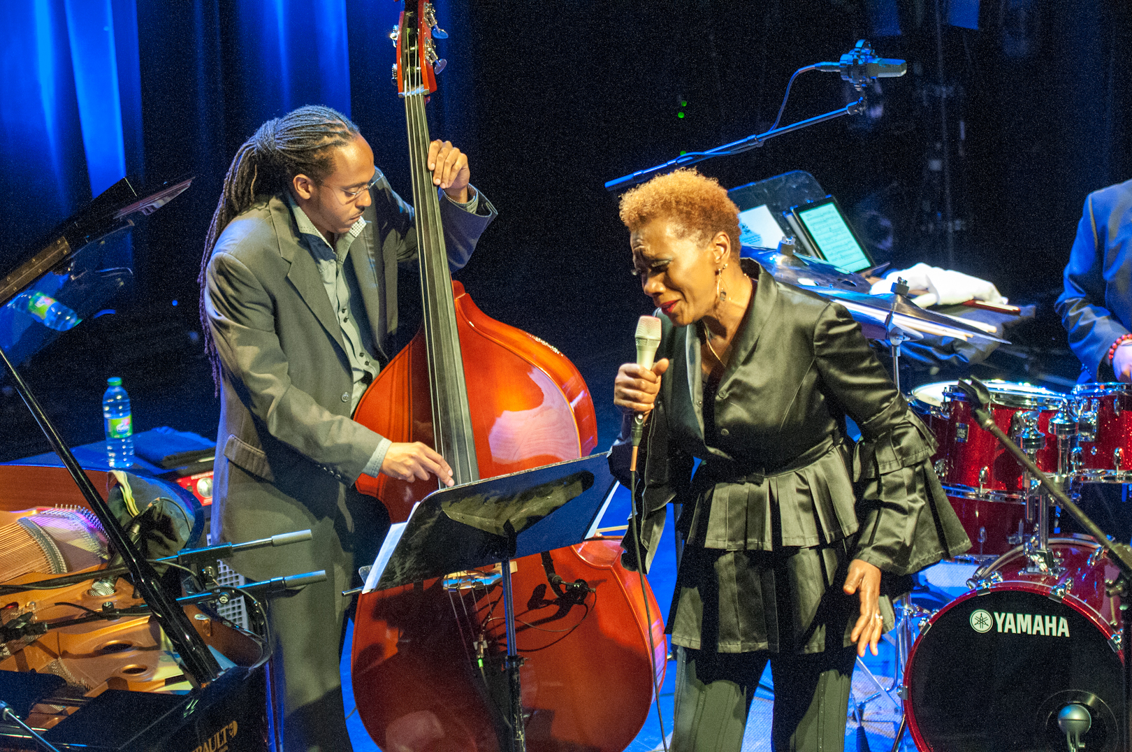 Corcoran Holt and Carmen Lundy at the Montreal International Jazz Festival
