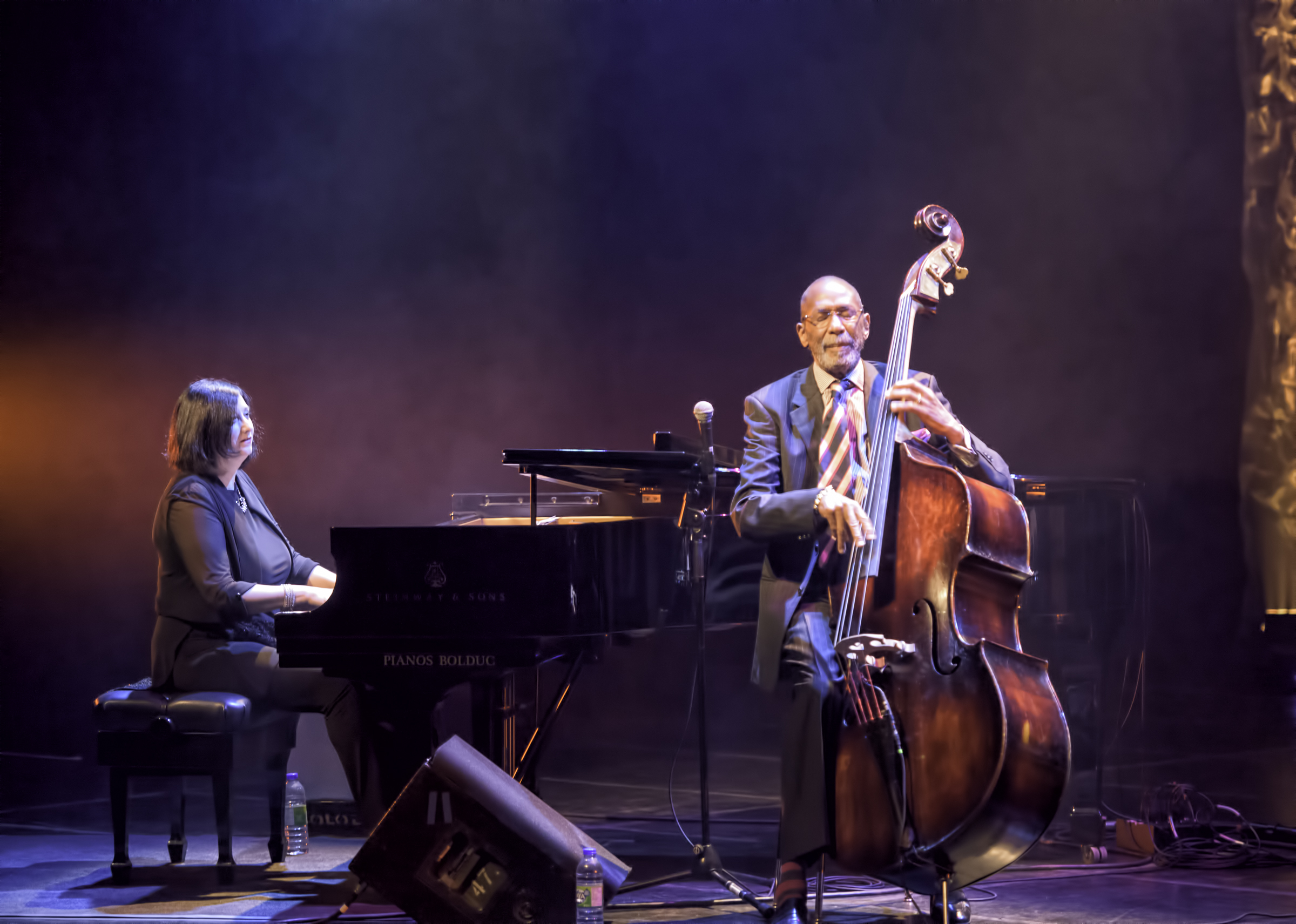 Renee Rosnes and Ron Carter at the Montreal Jazz Festival 2015