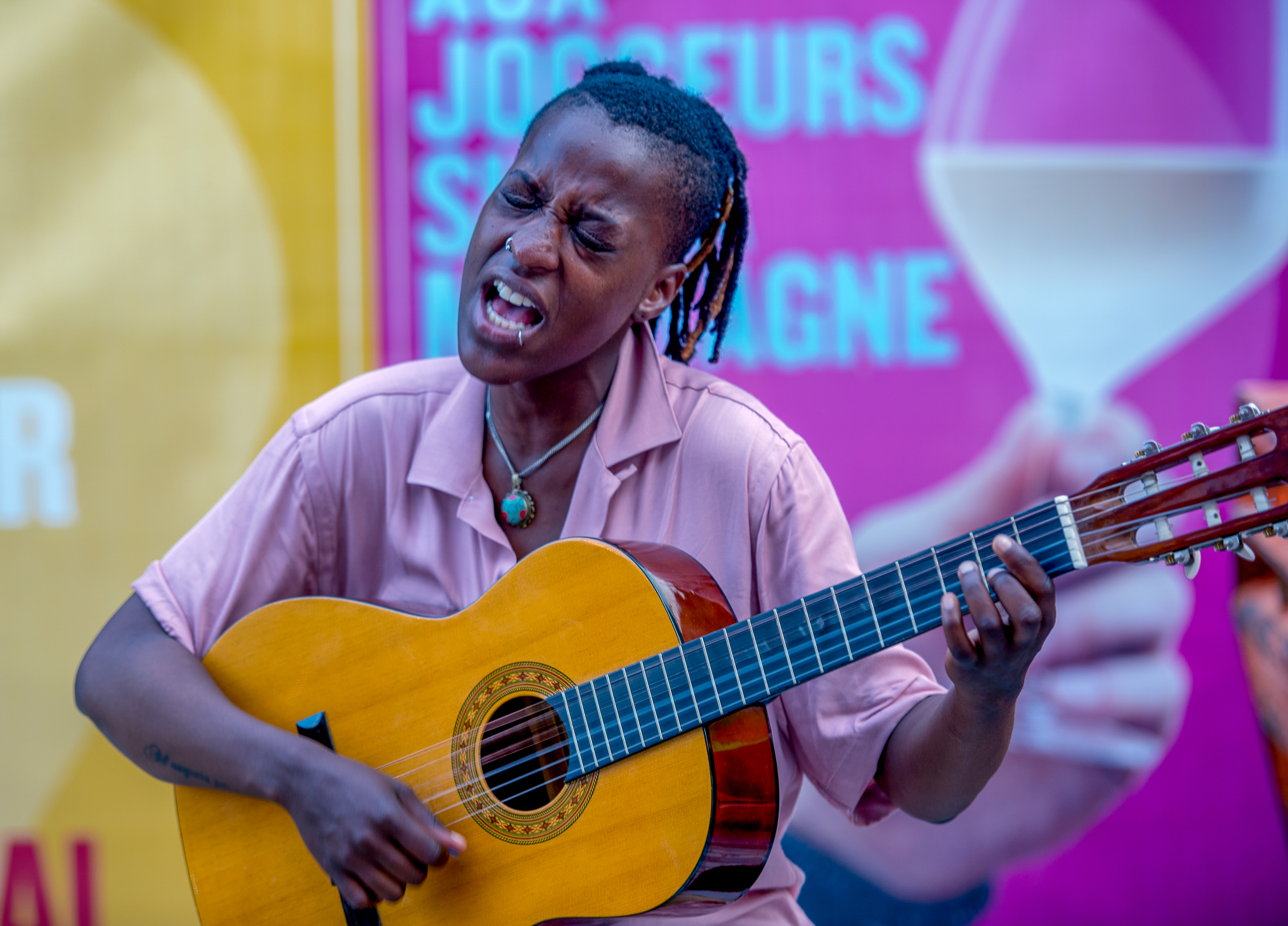 Street Musician At The Montreal International Jazz Festival 2018