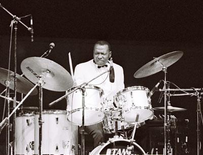Elvin Jones 0434215 Fairfield Halls, Croydon, UK. 1987 Images of Jazz
