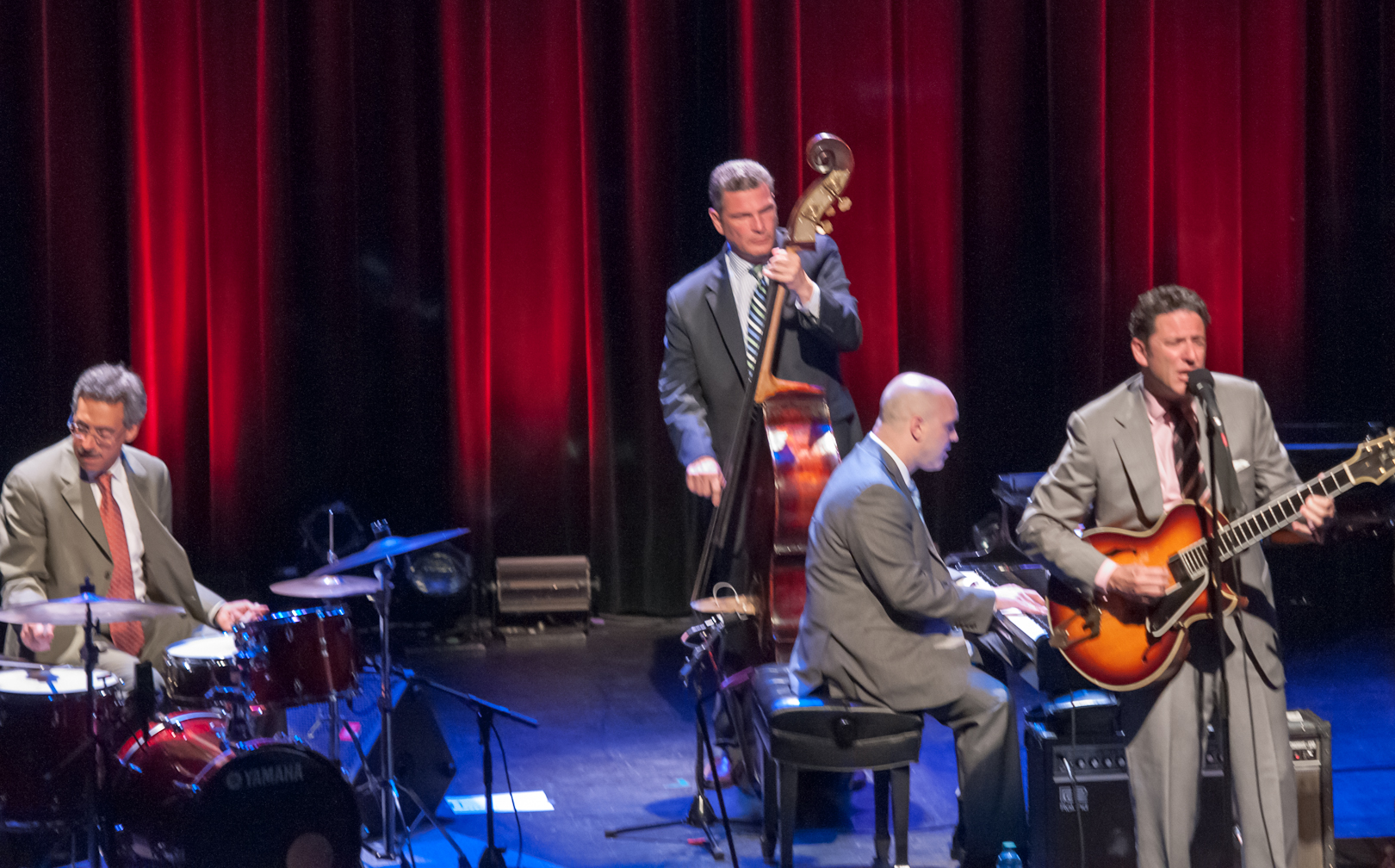 Tony Tedesco, Larry Fuller, Martin Pizzarelli and John Pizzarelli at the Montreal International Jazz Festival 2012