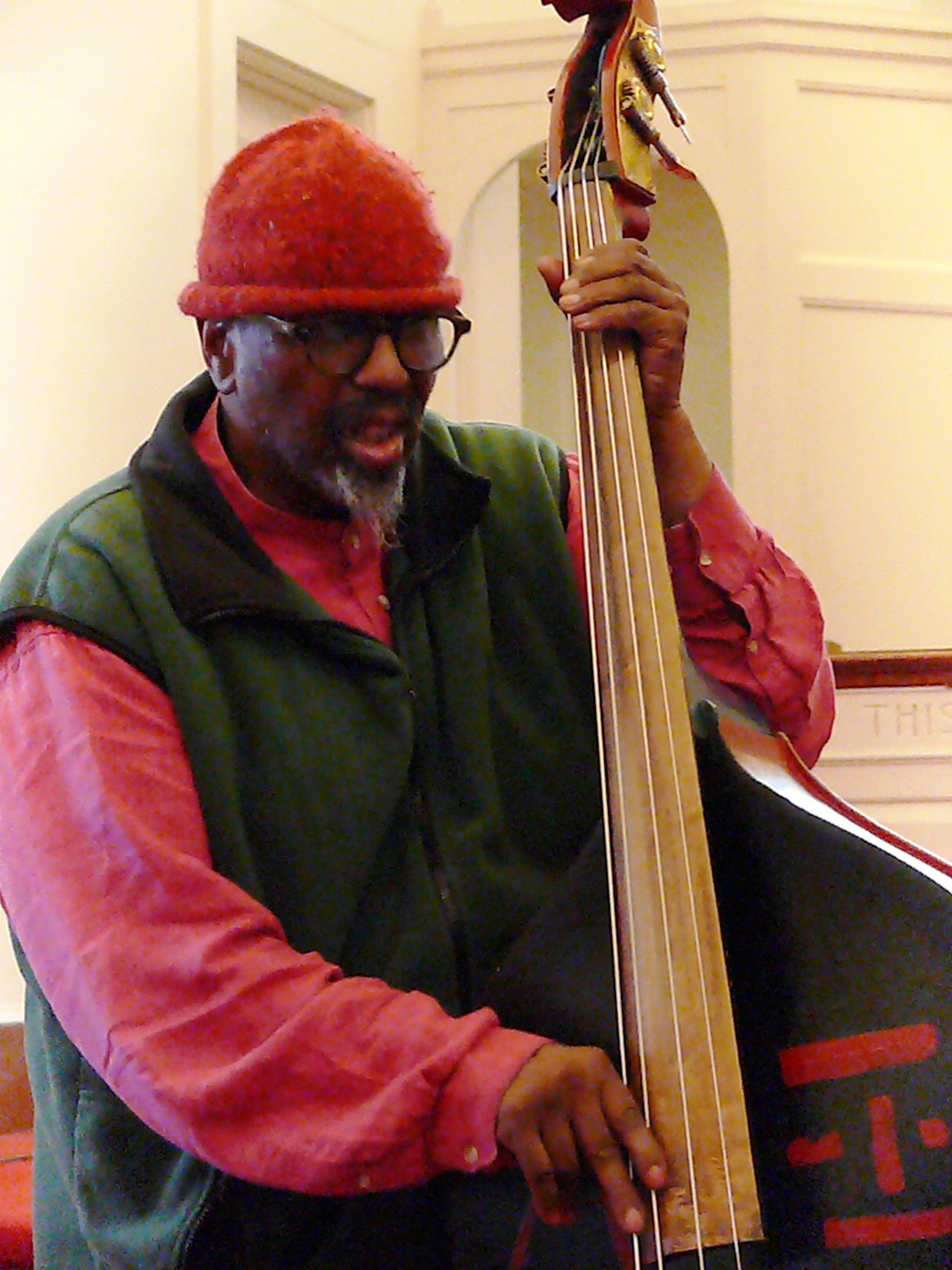 William Parker at Rendall Memorial Presbyterian Church, Harlem, NYC in October 2016