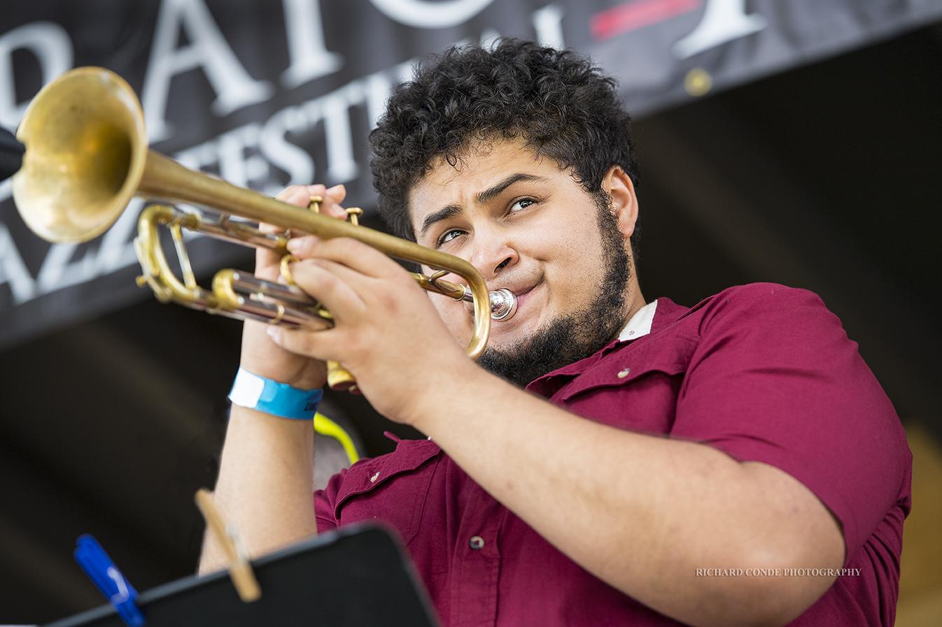 Adam O'Farrill at the Freihofer Saratoga Jazz Festival 2017