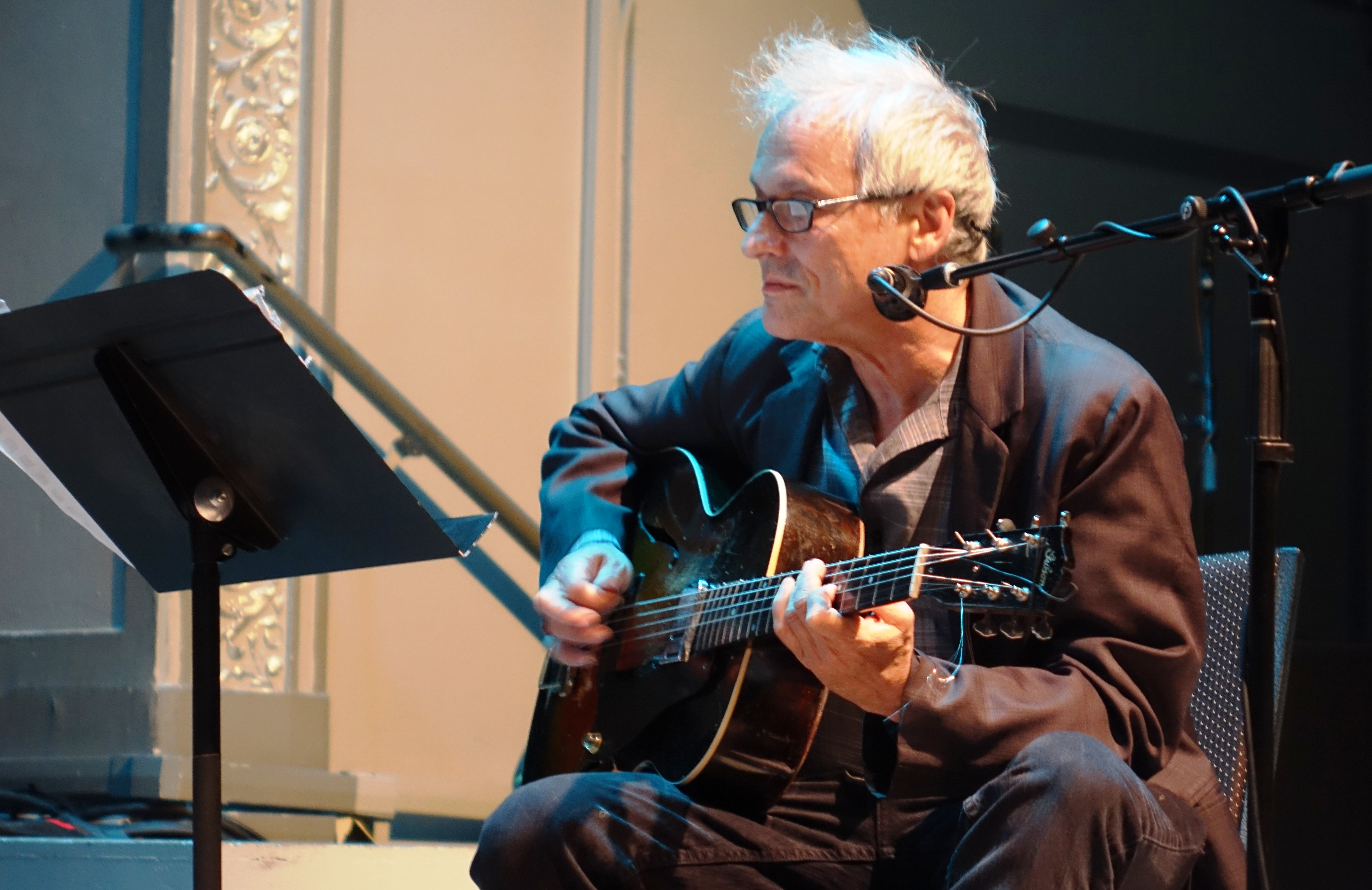 Marc Ribot at the Vision Festival in Roulette, Brooklyn in June 2019