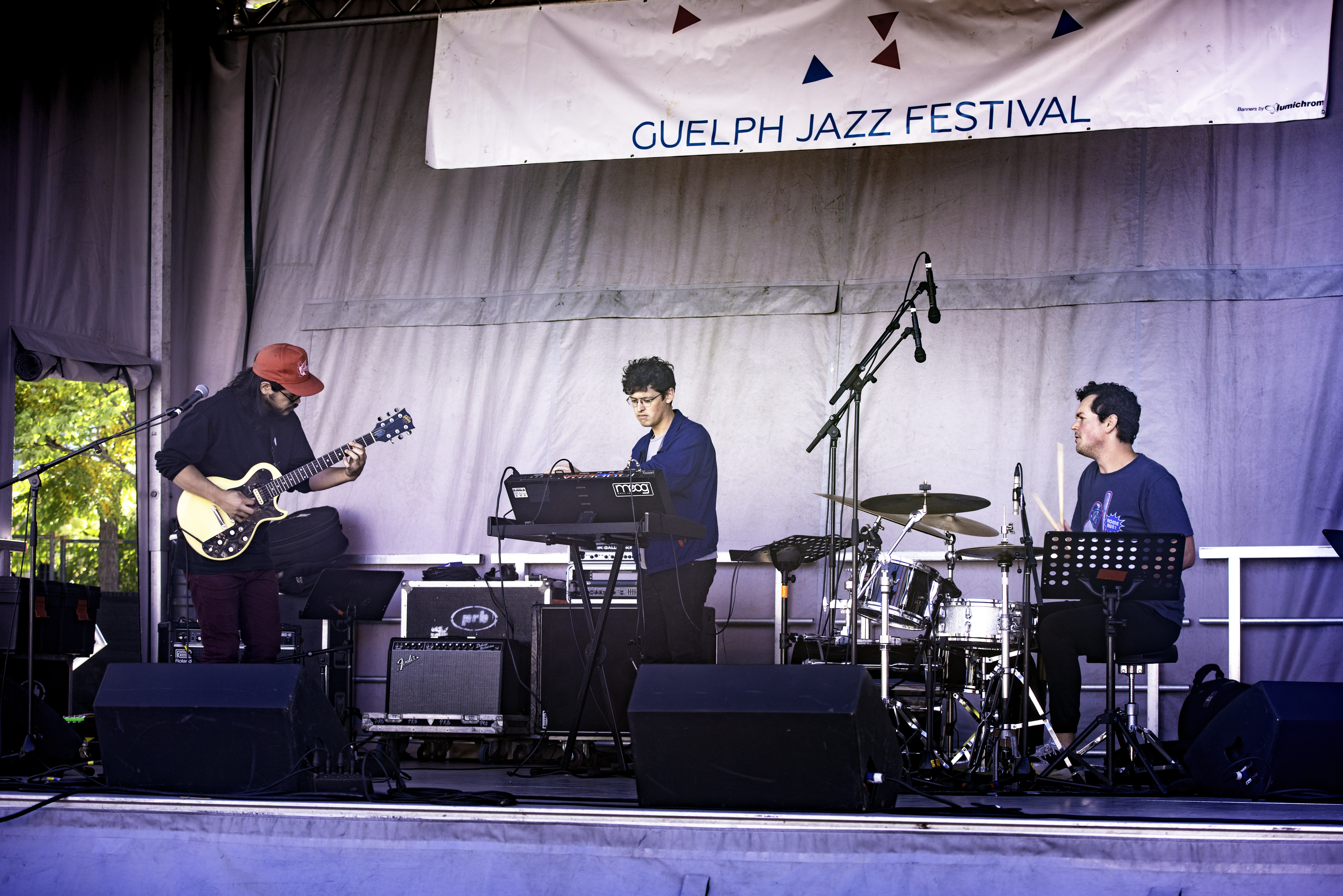 Matthew Fong, Chris Pruden and Mack Longpre with Future Machines at the Guelph Jazz Festival (2019)