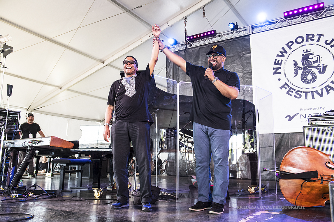 Herb Hancock and Christian McBride at the 2019 Newport  Jazz Festival