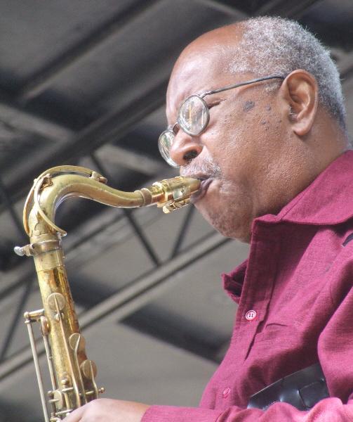 Ari Brown with Orbert Davis Sextet at 2011 Chicago Jazz Festival