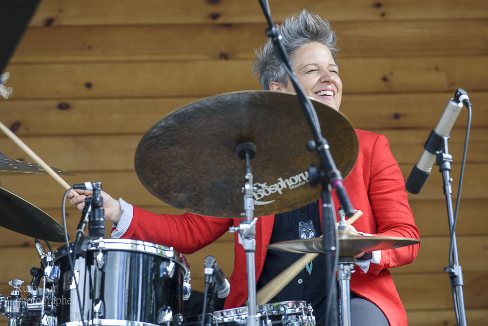 Allison Miller leading her band boom Tic Boom