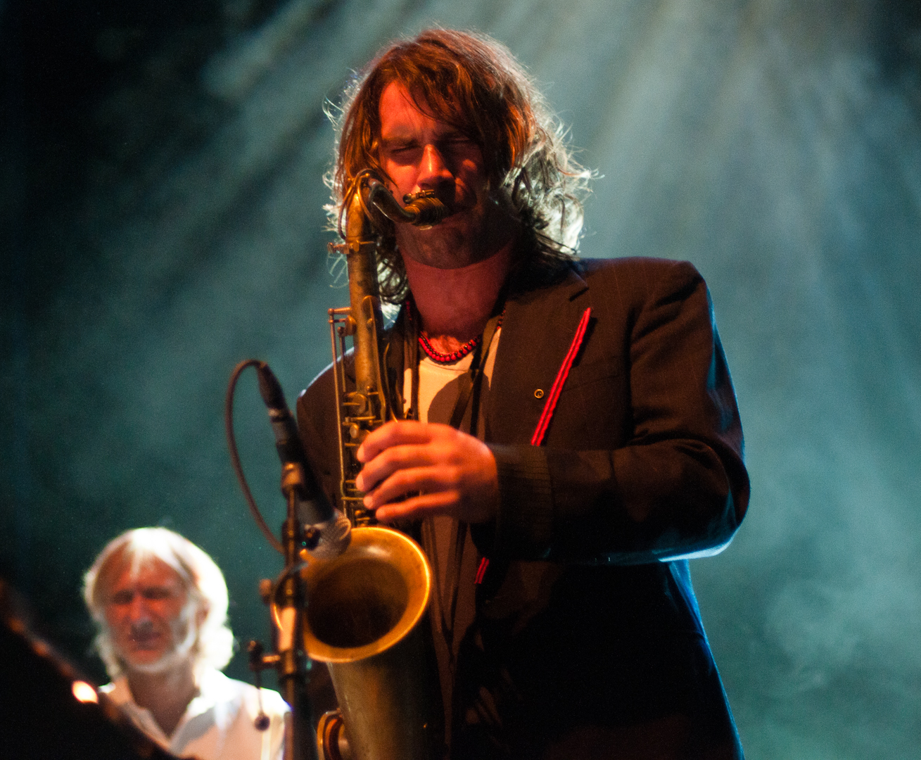 Ilhan Ersahin with Bugge Wesseltoft at the Olso Jazz Festival