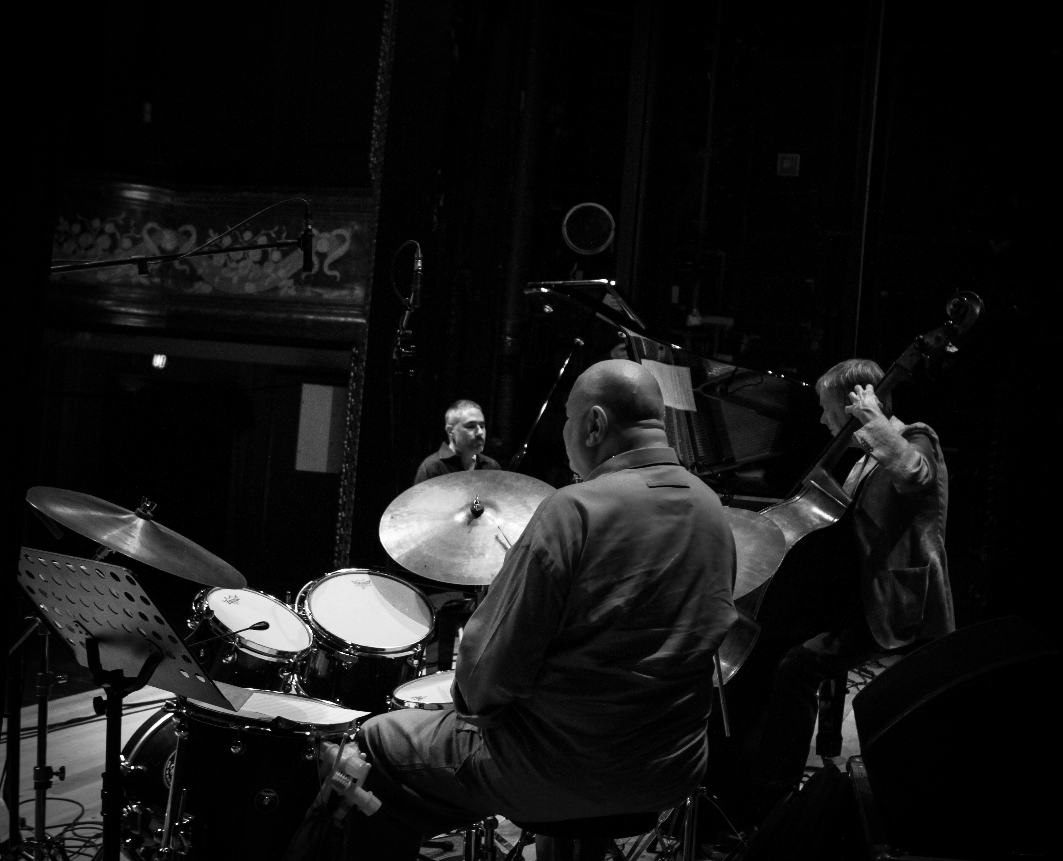 Jean-Michel Pilc (Pia) Daniel Humair (Drums) Mads Vinding (Bass) at Summer Jazz 2014 in Copenhagen, Denmark