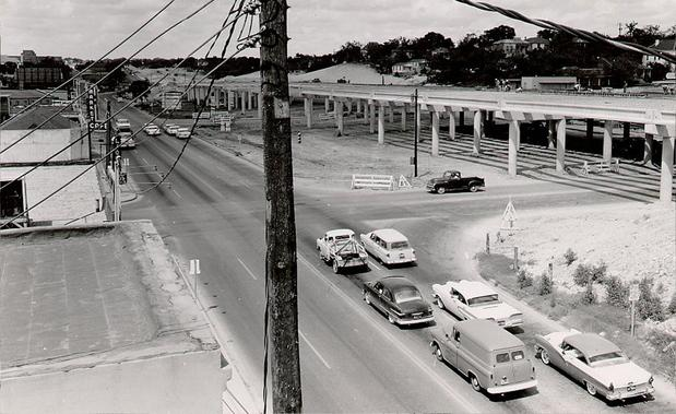 I-35, the Dividing Highway Between Downtown and East Austin.