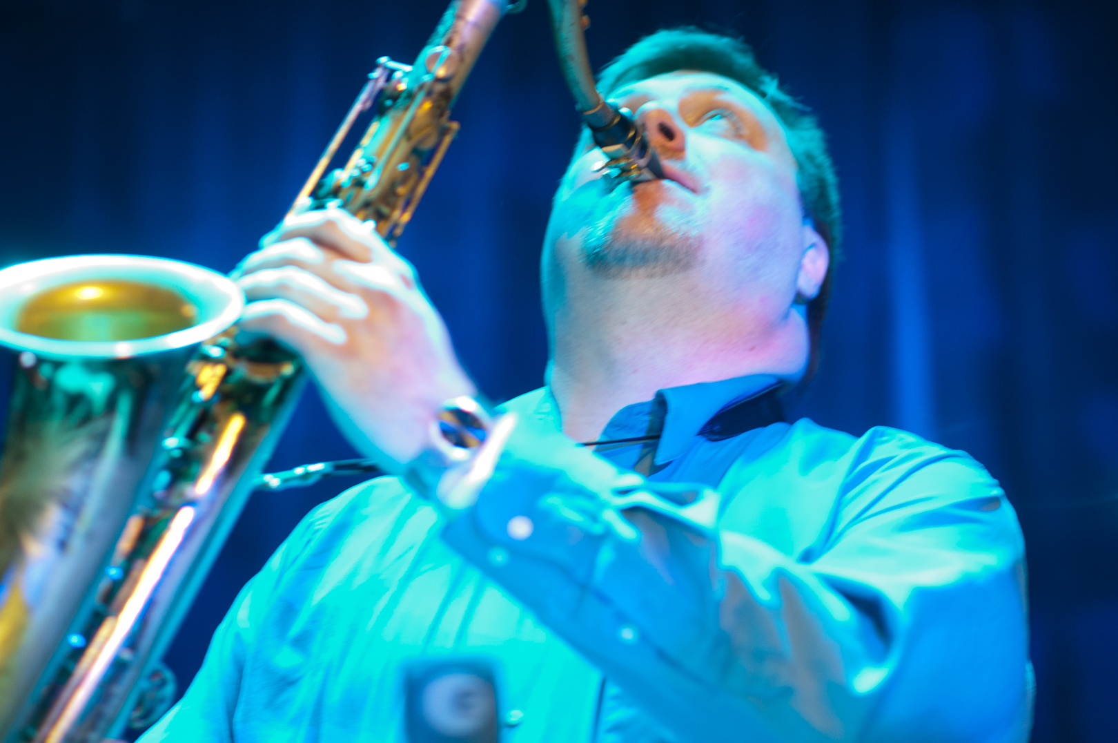 Joel Frahm with Laurence Hobgood at the Winter Jazzfest 2012