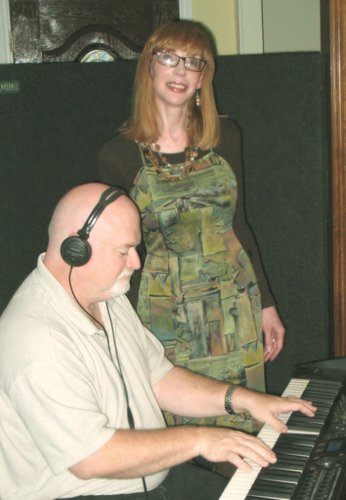 Laura Ainsworth & Brian Piper in Studio