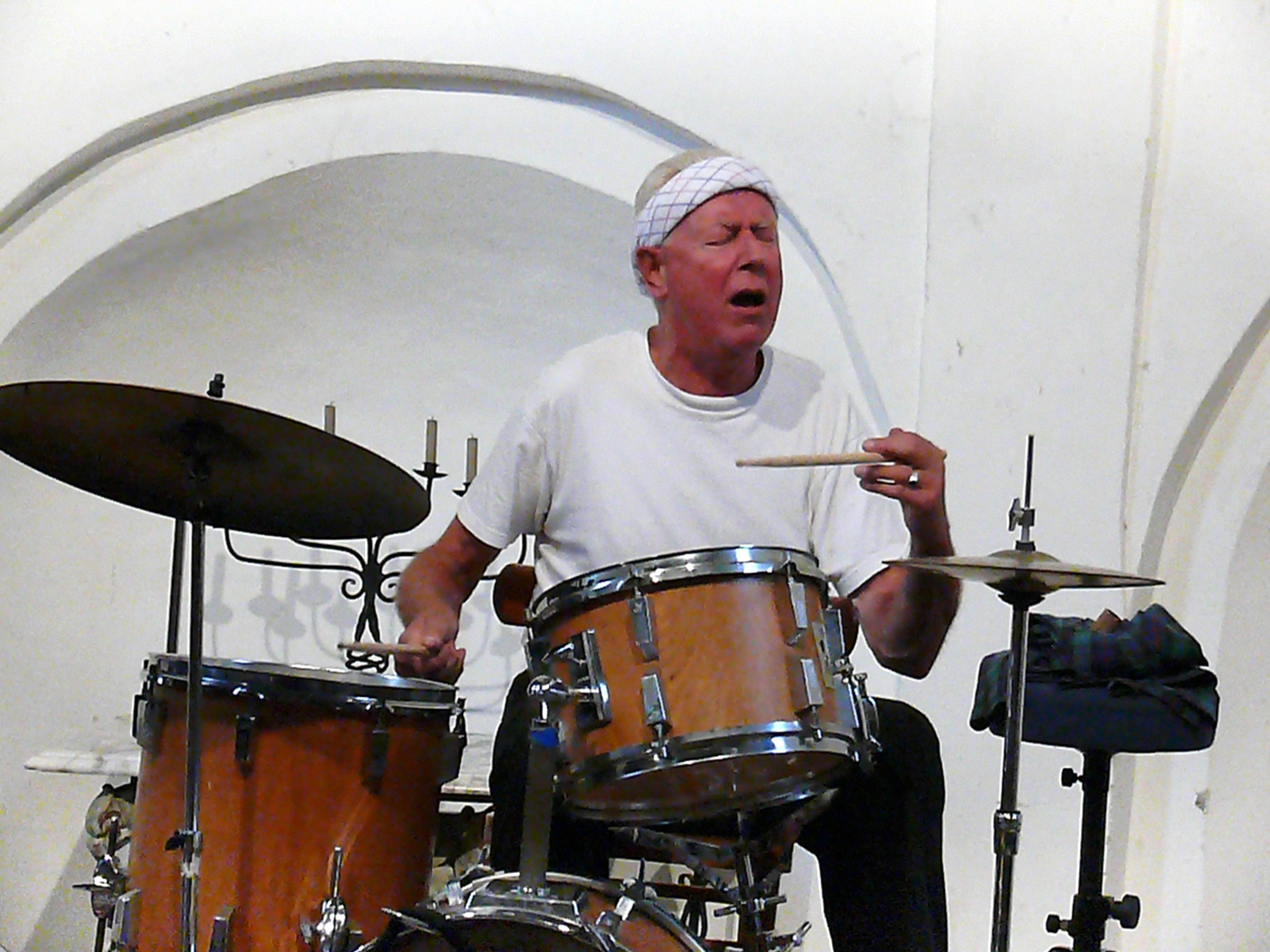 Han Bennink in Groningen, August 2011