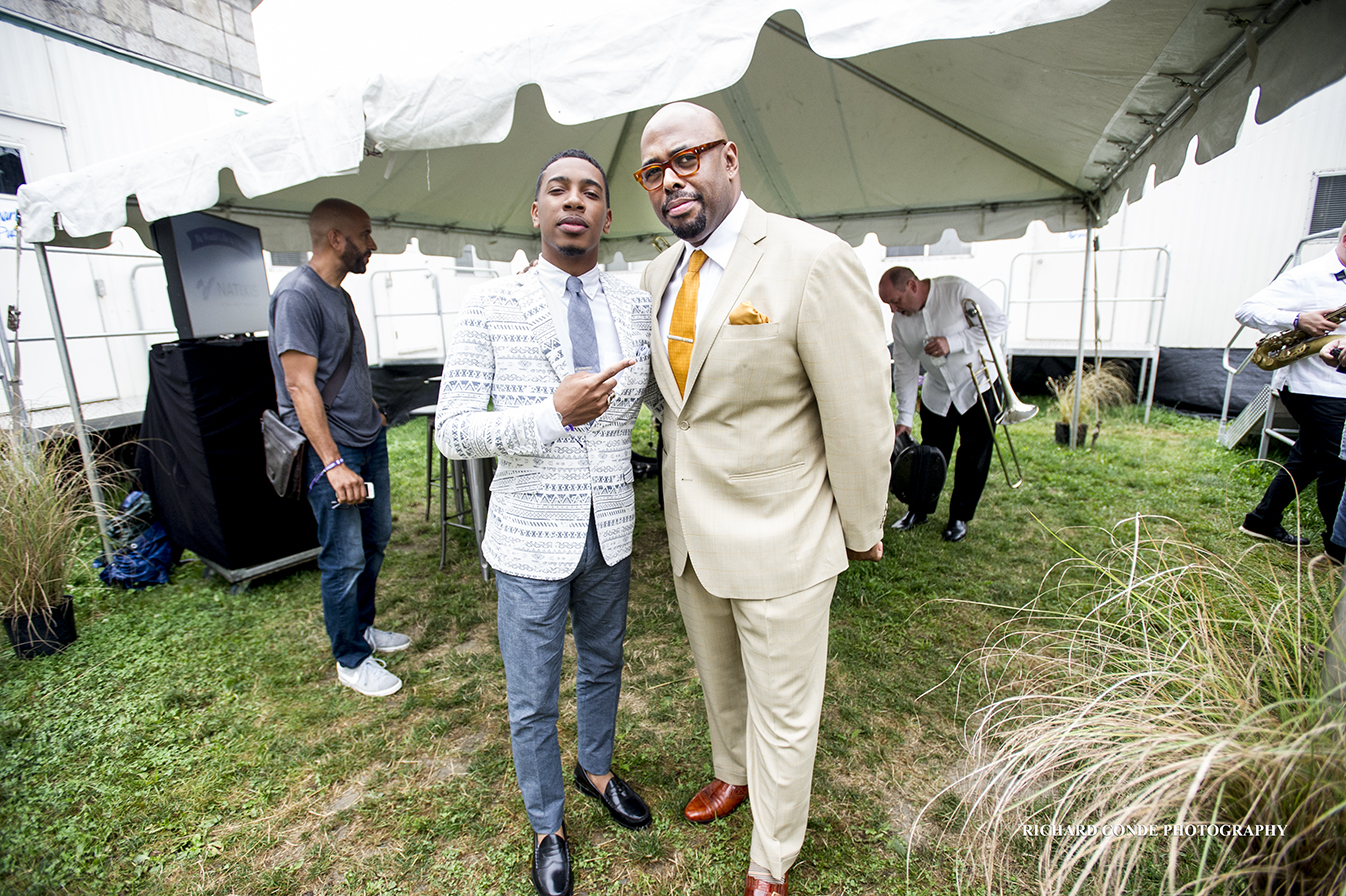 Christian McBride and Christian Sands at the Newport Jazz Festival