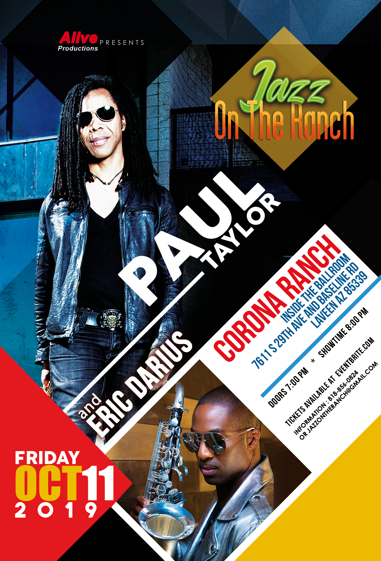 Jazz On The Ranch with Paul Taylor and Eric Darius