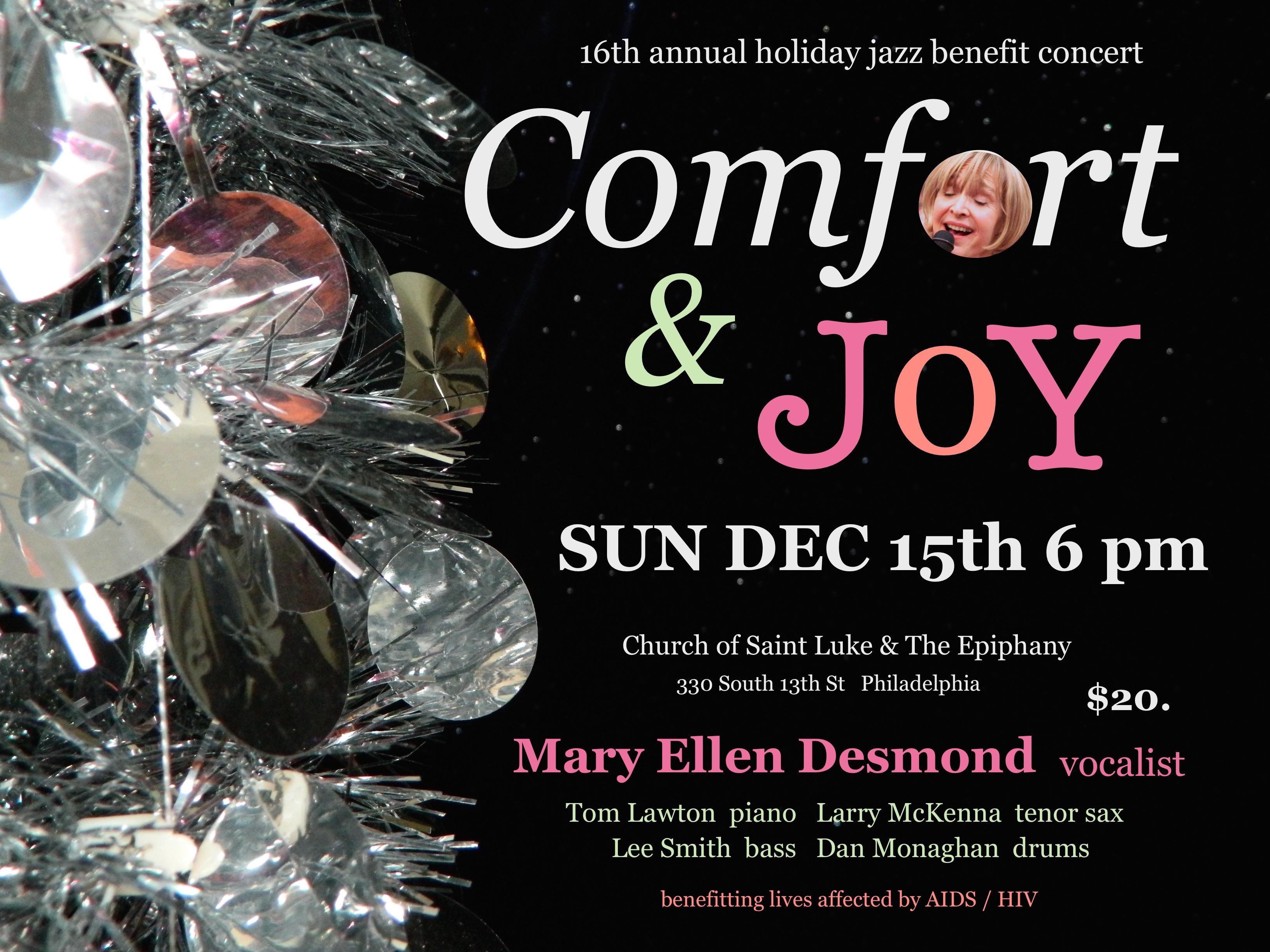 Mary Ellen Desmond's Comfort & Joy Holiday Jazz Concert