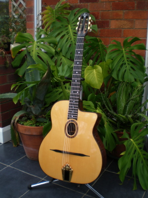 John le Voi Selmer Style Guitar in Spruce and Madagascan Rosewood