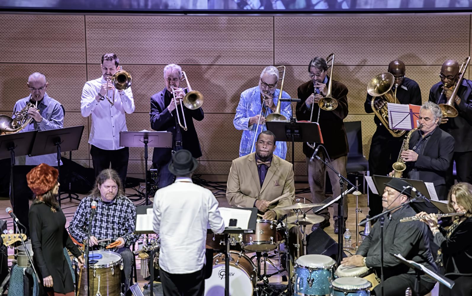 Kali Z. Fasteau, Dick Griffin, Joseph Daley, Steve Swell, Brett Sroka, Avram Fefer, Baba Donn Babatunde, Kahlil Bell, Andrew Drury, Andre Brachfeld with Craig Harris and Breathe at the NYC Winter Jazzfest 2017