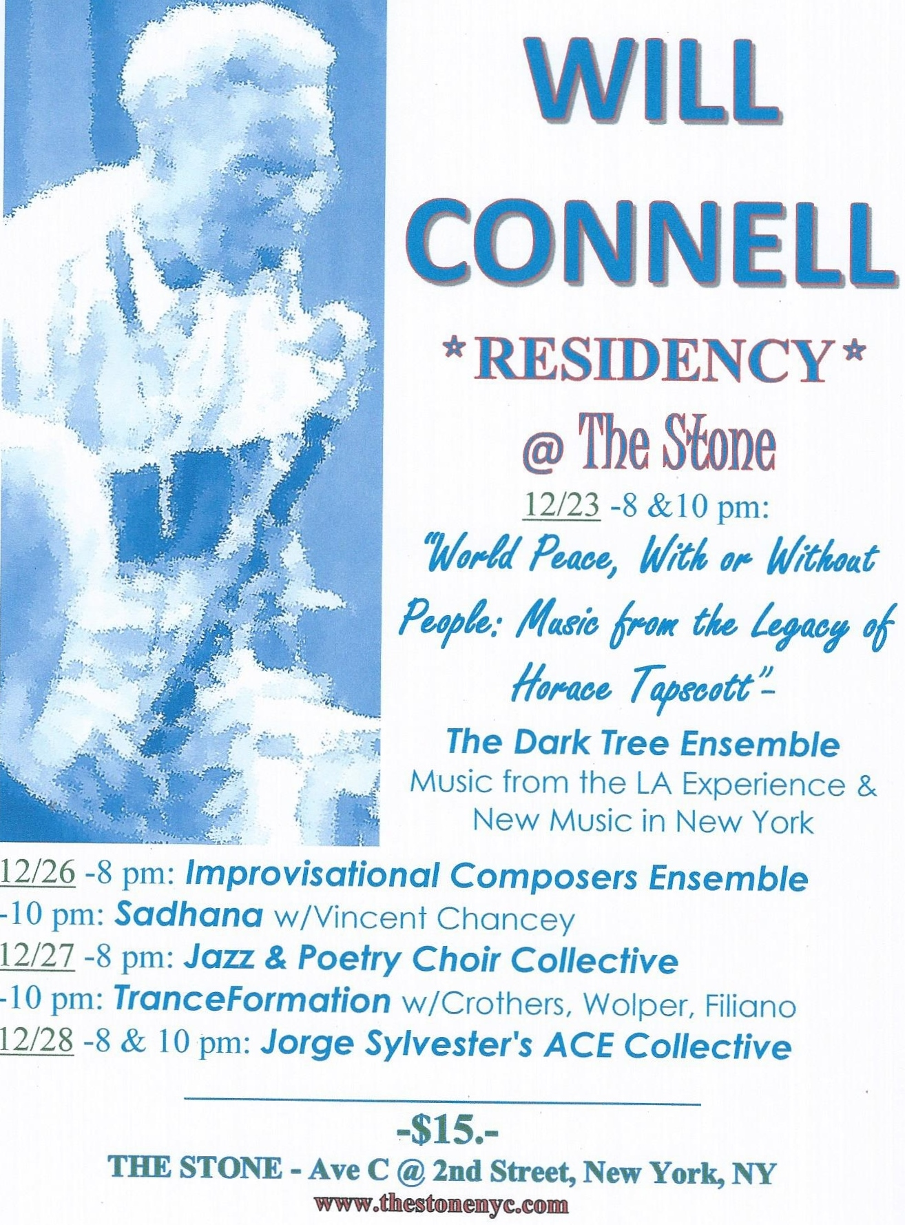 Will Connell Residency @ the Stone