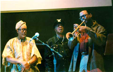 Dr. Nelson Harrison, Dr. Donald Byrd and Dr. Bill Dixon at the Global African Music and Art Symposium