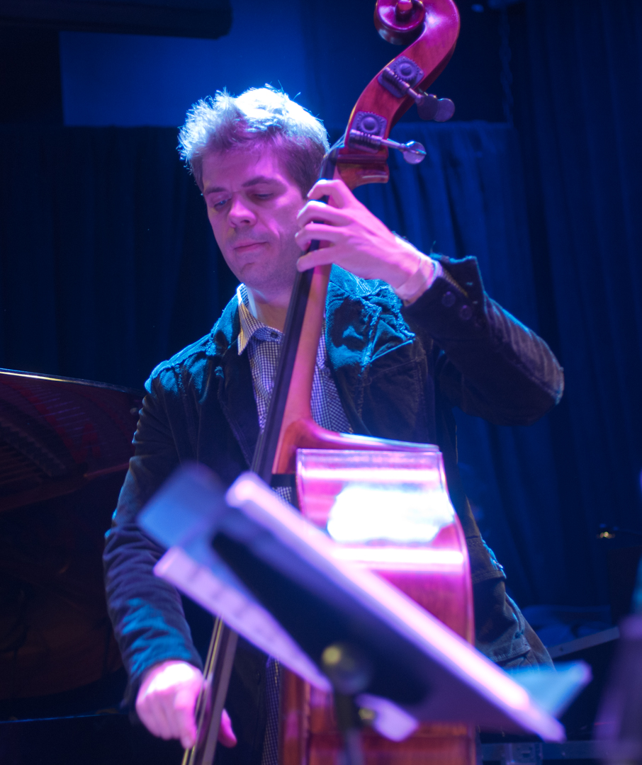 Matthew Rybicki with Laurence Hobgood at the Winter Jazzfest 2012
