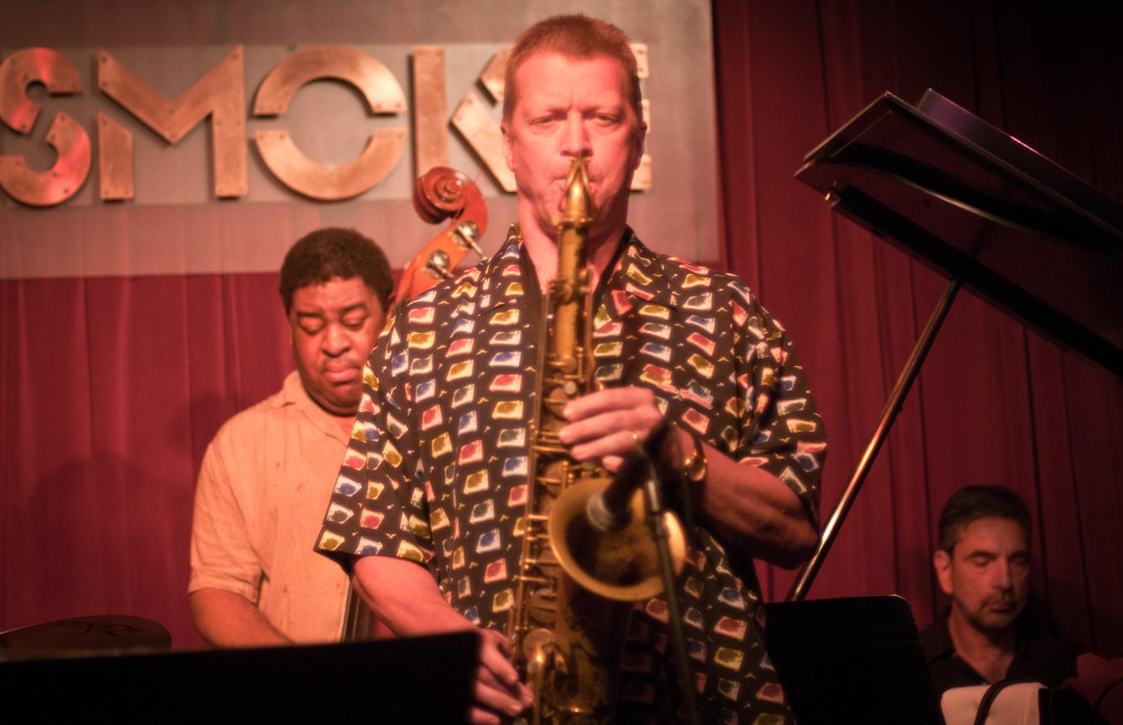 John Farnsworth, Dwayne Burno and Mike Ledonne at Smoke Jazz Club