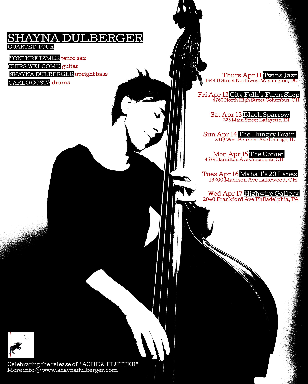 Shayna Dulberger Quartet Tour Flyer