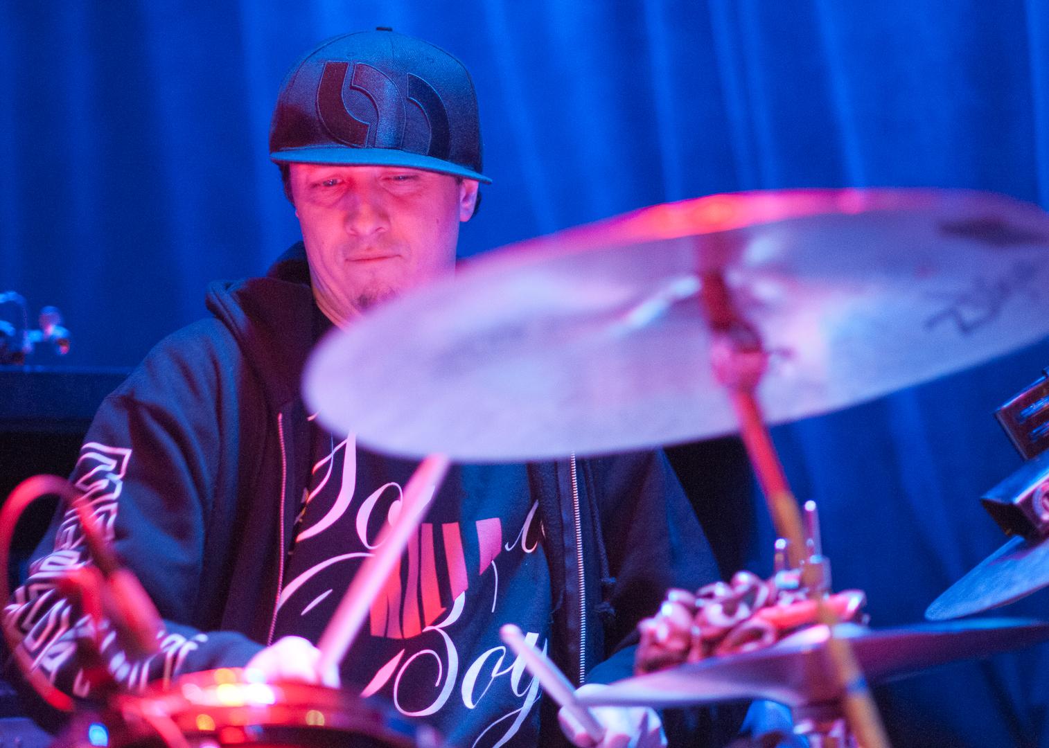 Adam Deitch with Jon Medeski and Skerik at Winter Jazzfest 2012