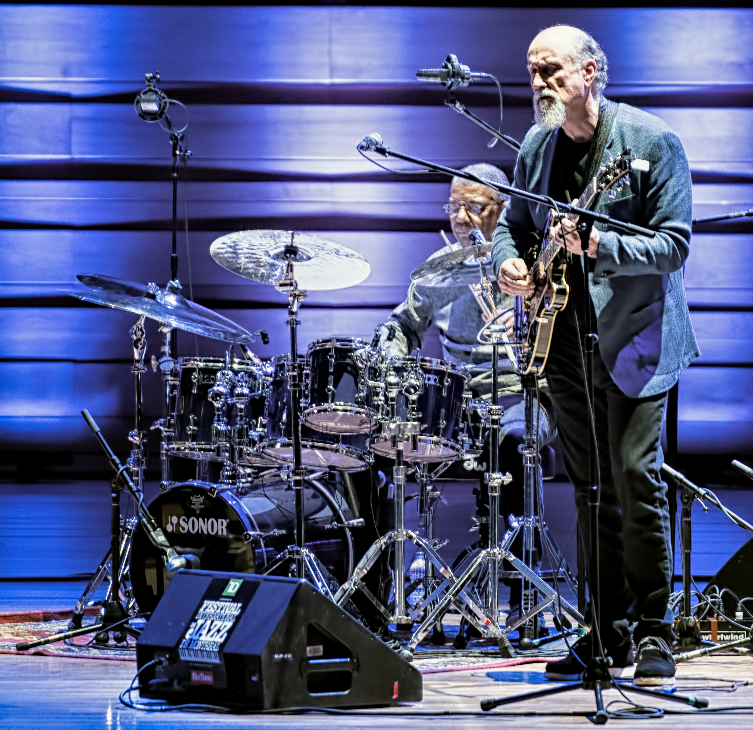 Jack Dejohnette and John Scofield with Hudson at The Montreal International Jazz Festival 2017